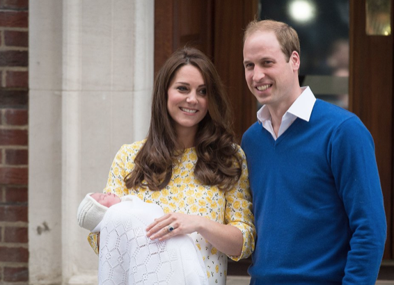 Kate Middleton, Prince William and Princess CharlotteLEON NEAL/AFP/Getty
