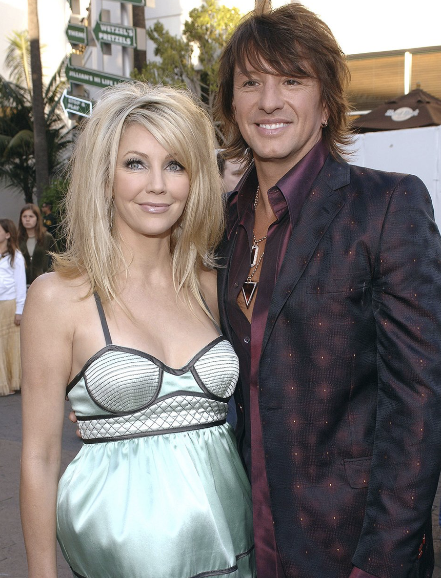 Heather Locklear and Richie Sambora L. COHEN/WIREIMAGE
