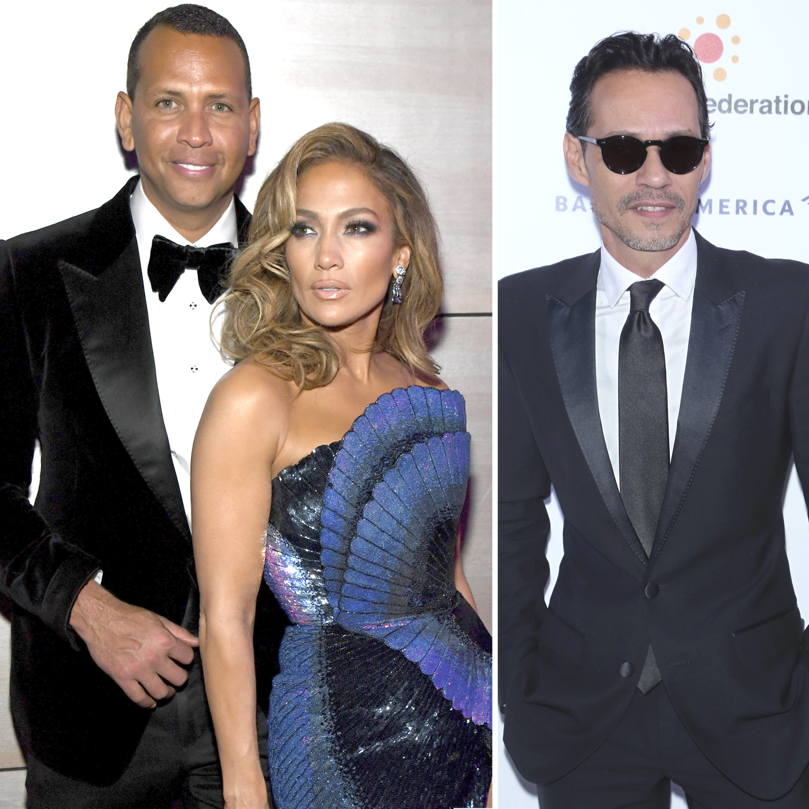 Alex Rodriguez, Jennifer Lopez y Marc Anthony