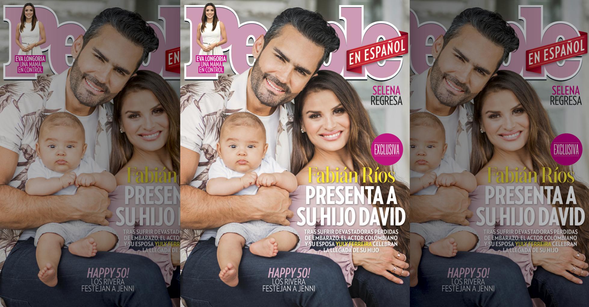 Fabian Rios y familia en la portada de People En Español