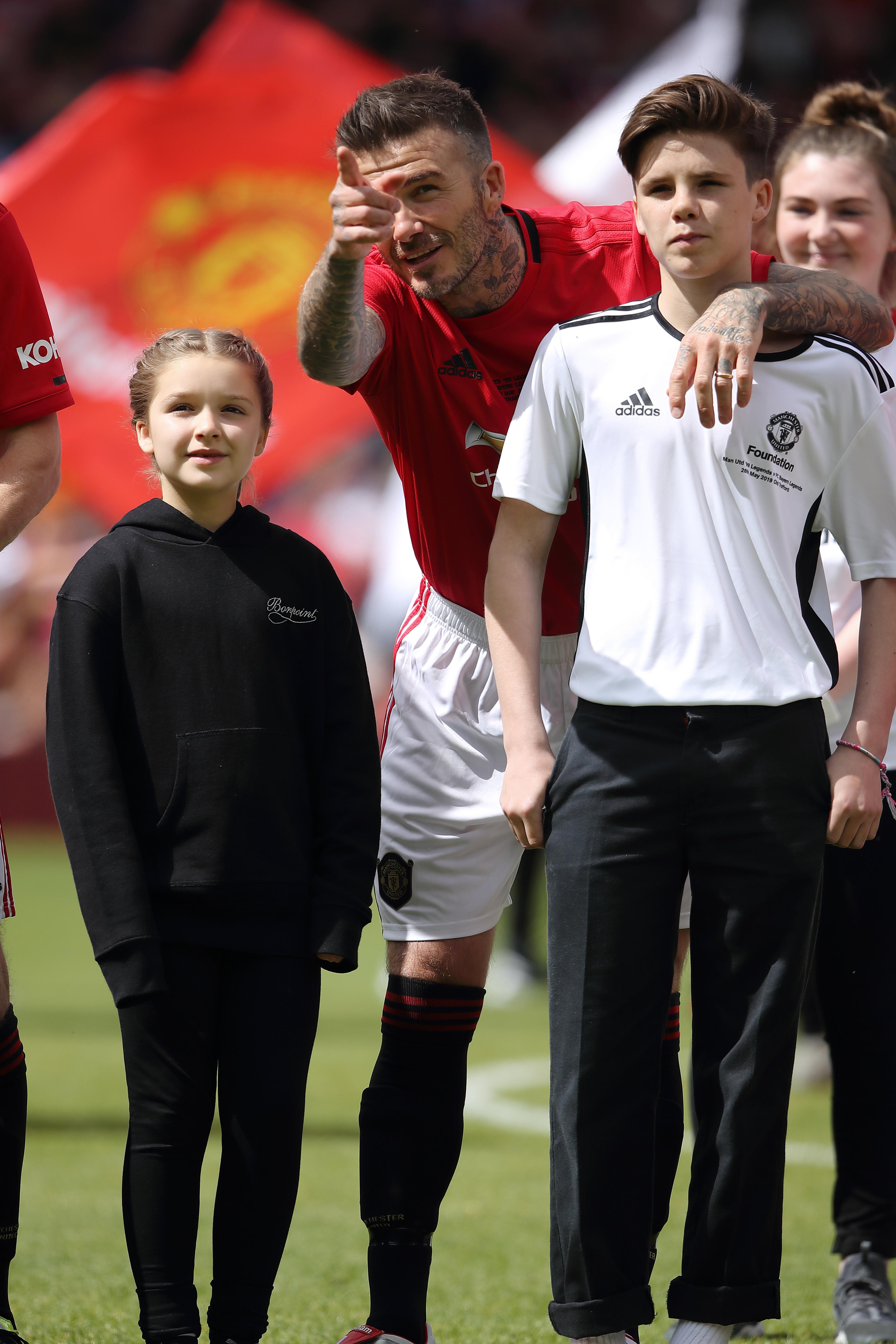 David Beckham Harper Beckham Cruz Beckham