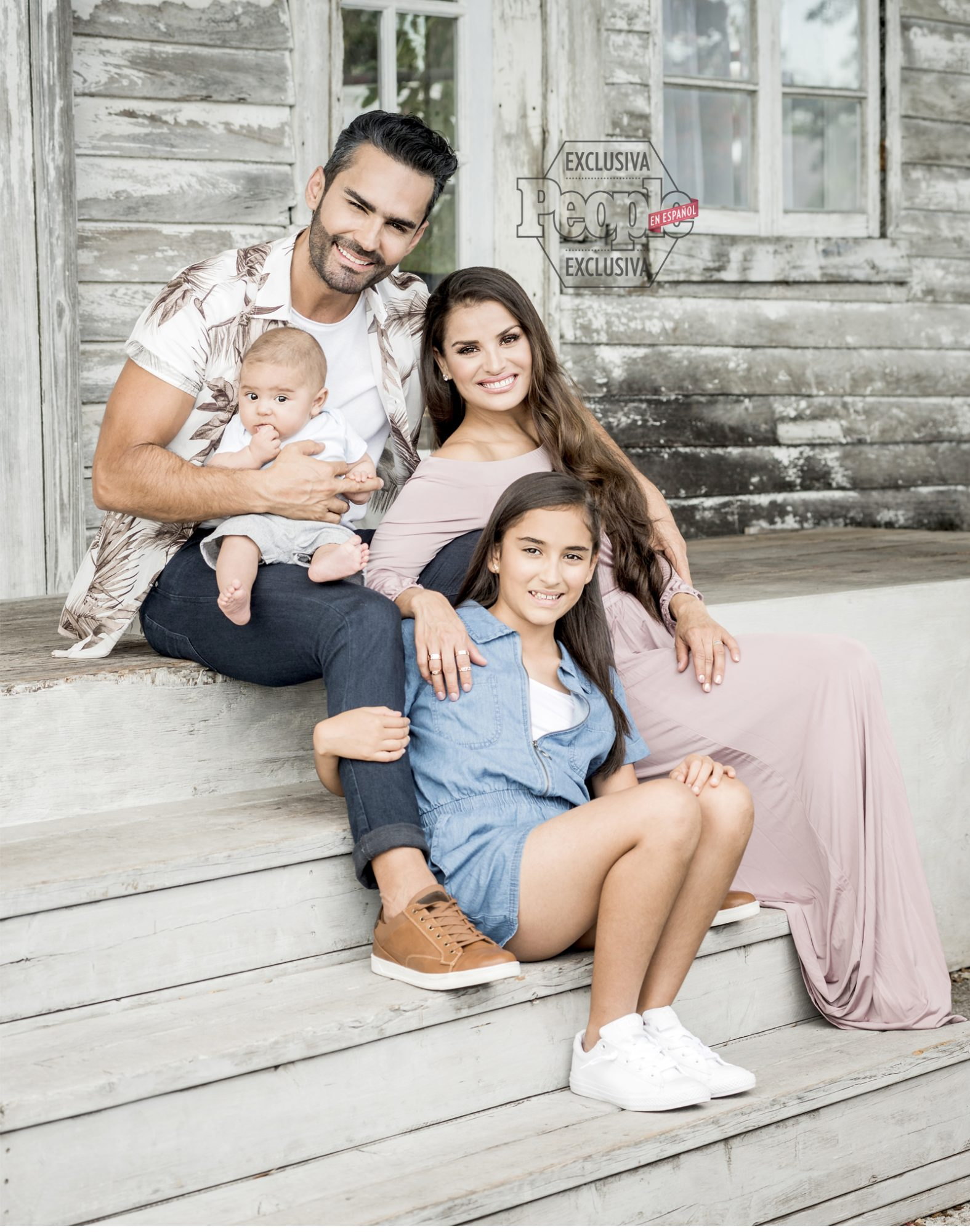 Fabian Rios y familia