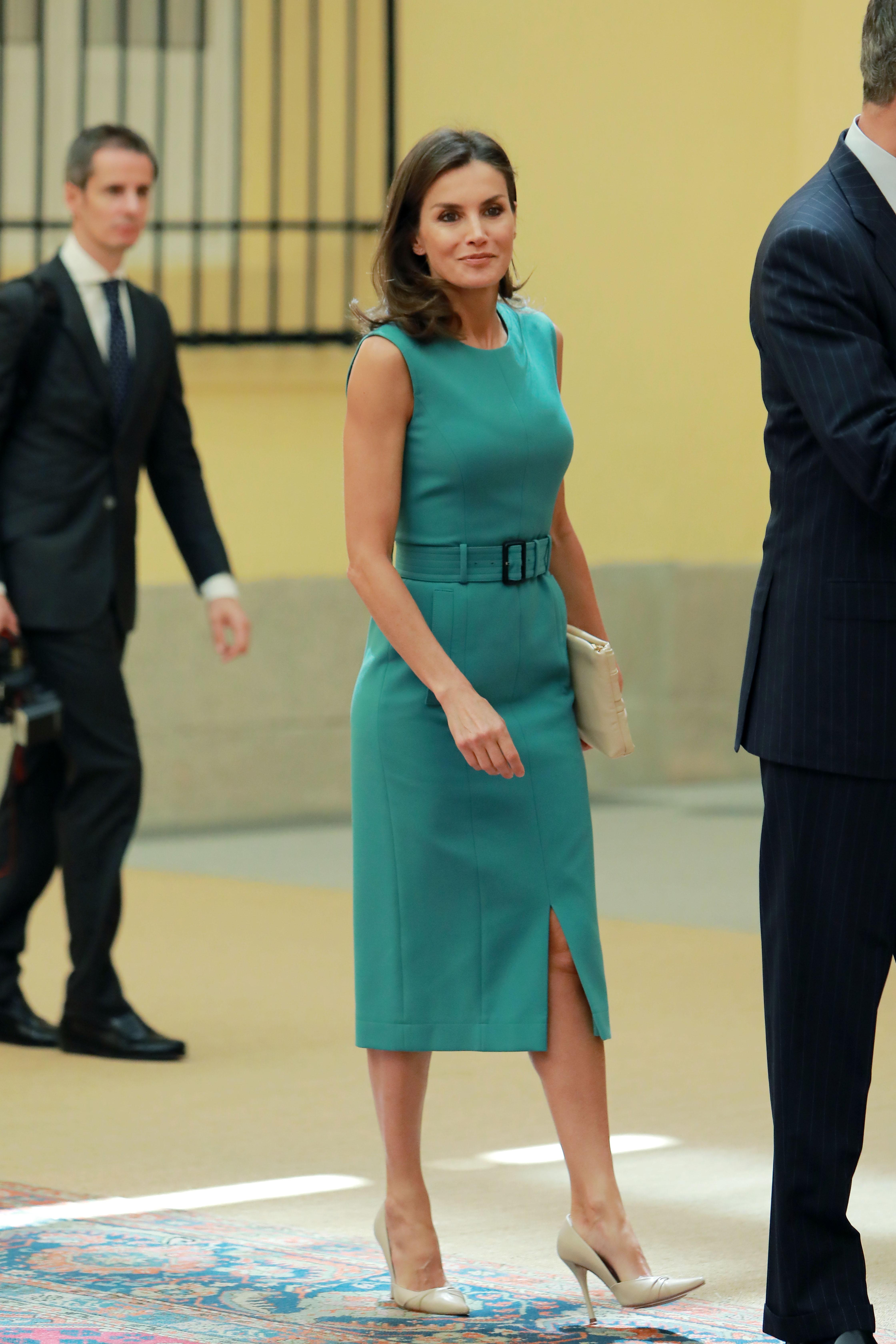 Spanish Royals Attend A Meeting With Members Of 'Princesa De Asturias' Foundation