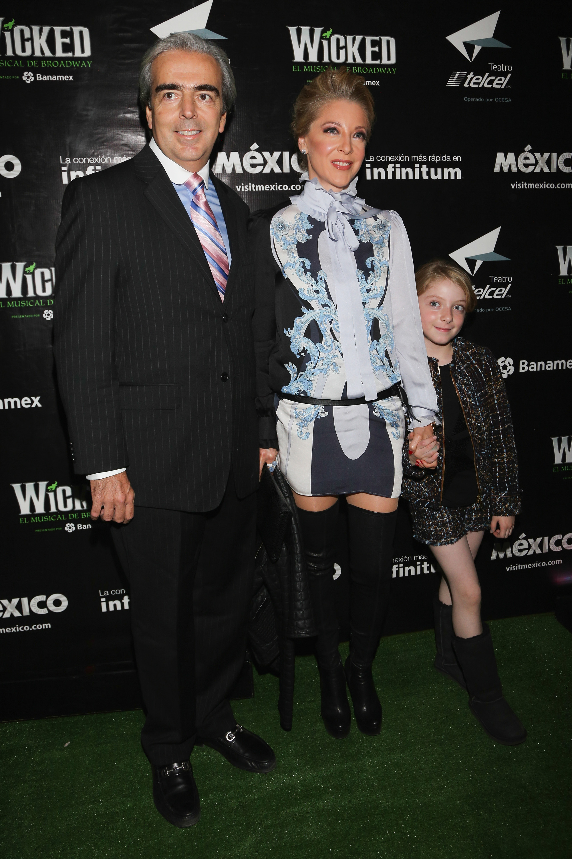 Lorenzo Lazo, Edith González y su hija
