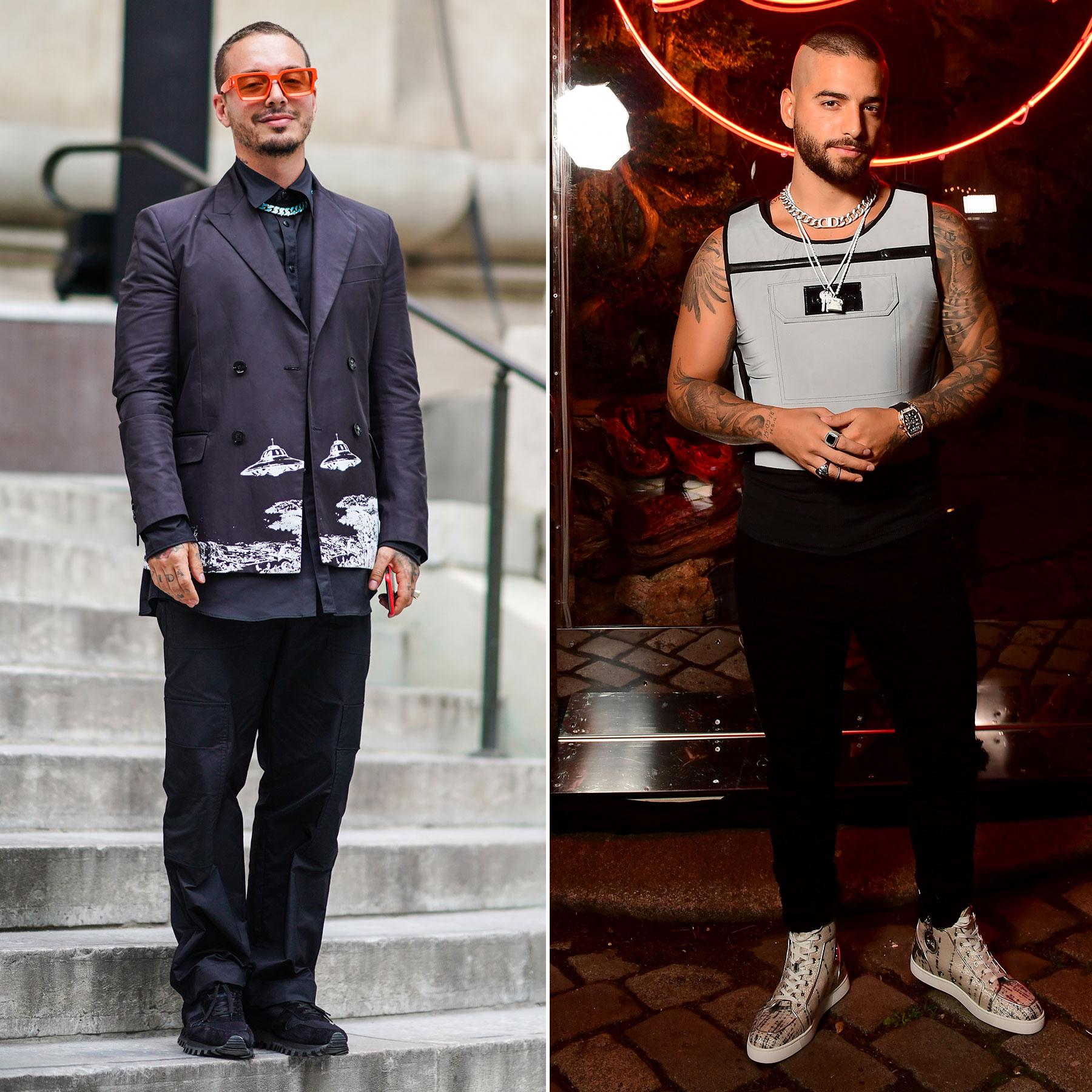 J Balvin y MAluma Semana de la moda en paris