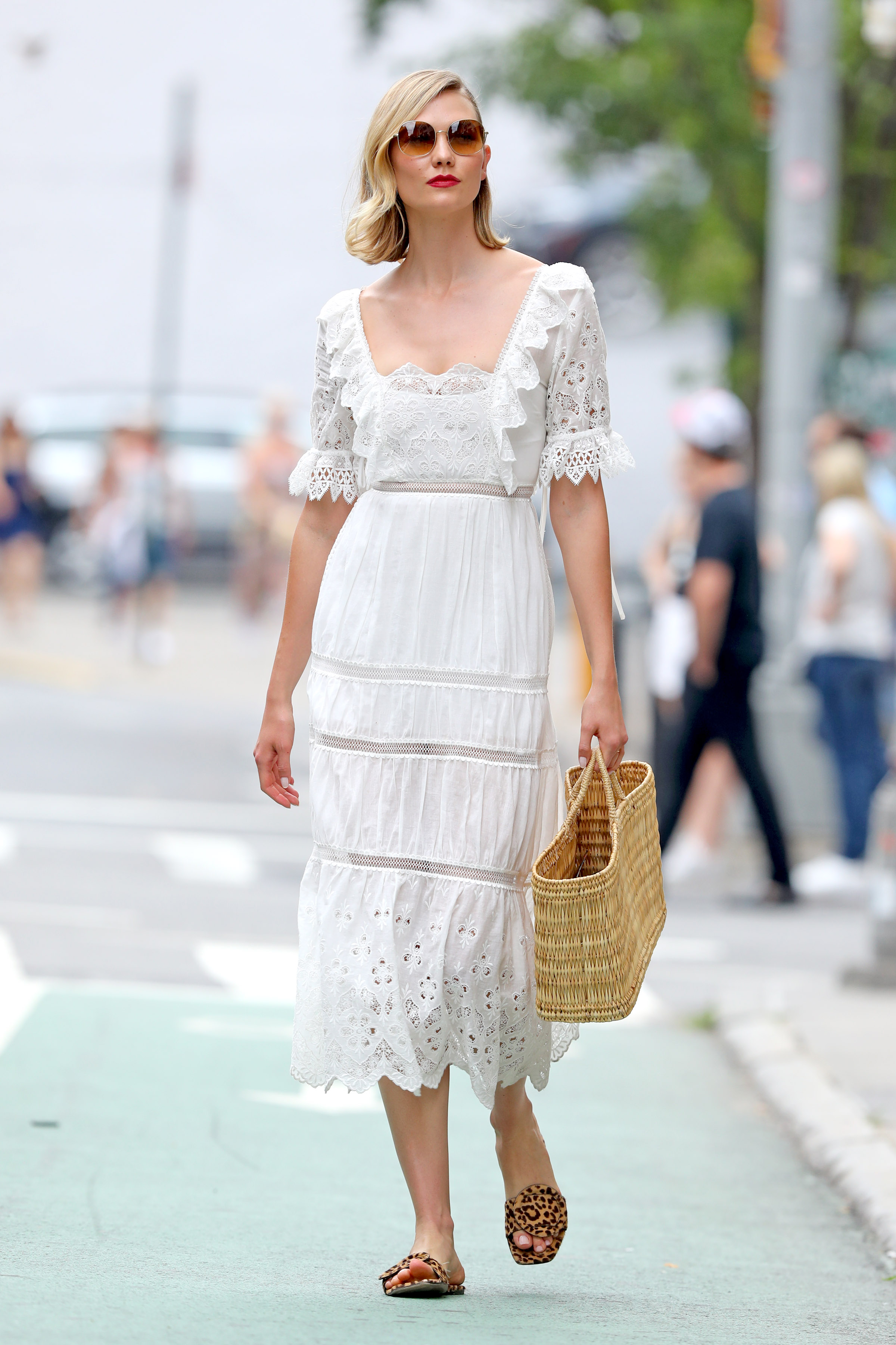 Karlie Kloss, look, vestido blanco, verano