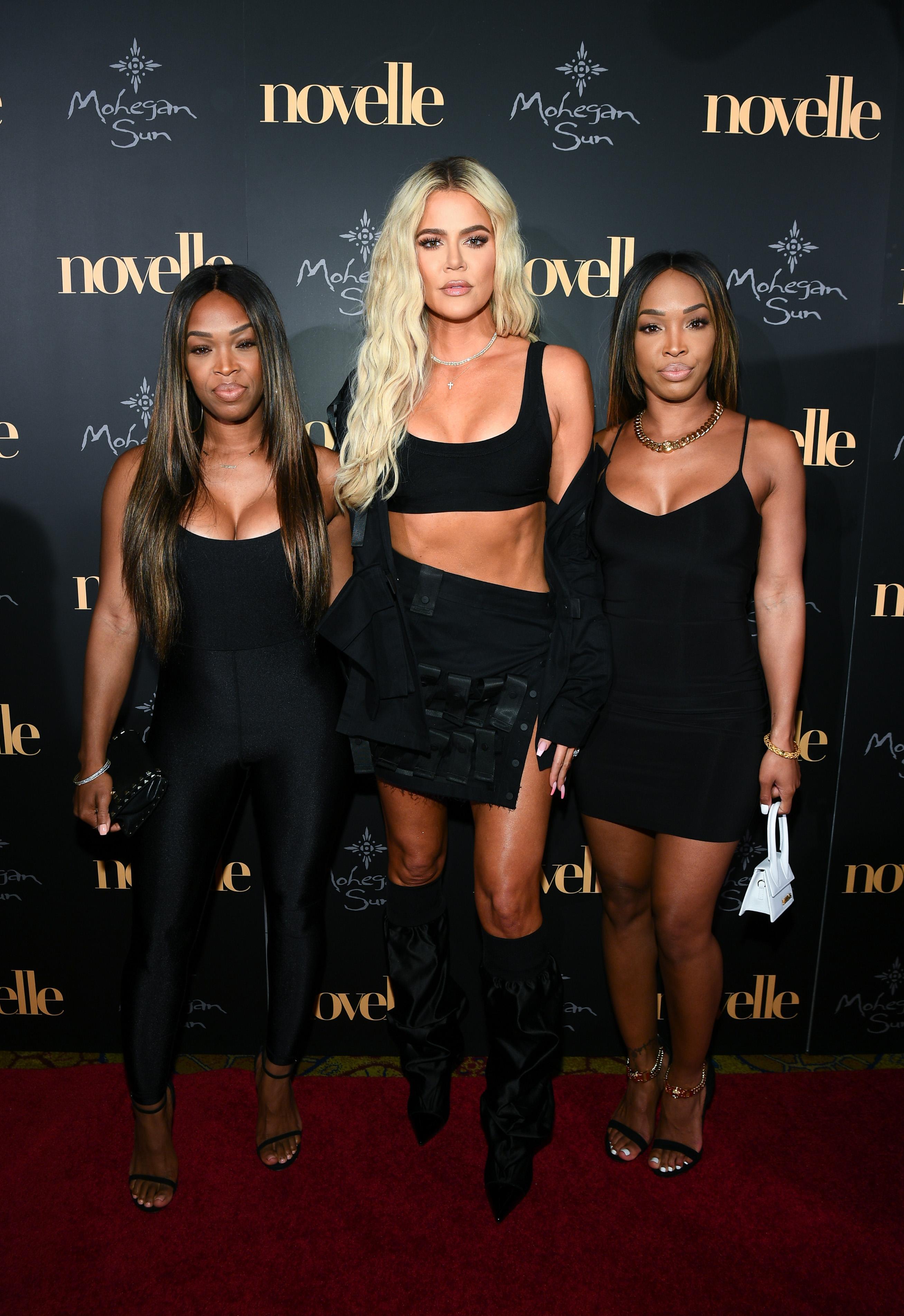 Khloé Kardashian en fiesta en Connecticut