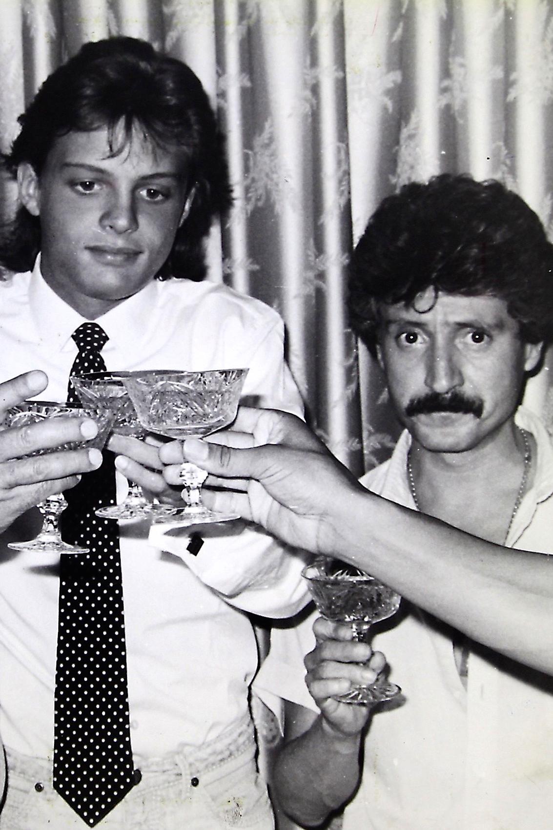 Luis Miguel en 1985 con su papá Luisito Rey.