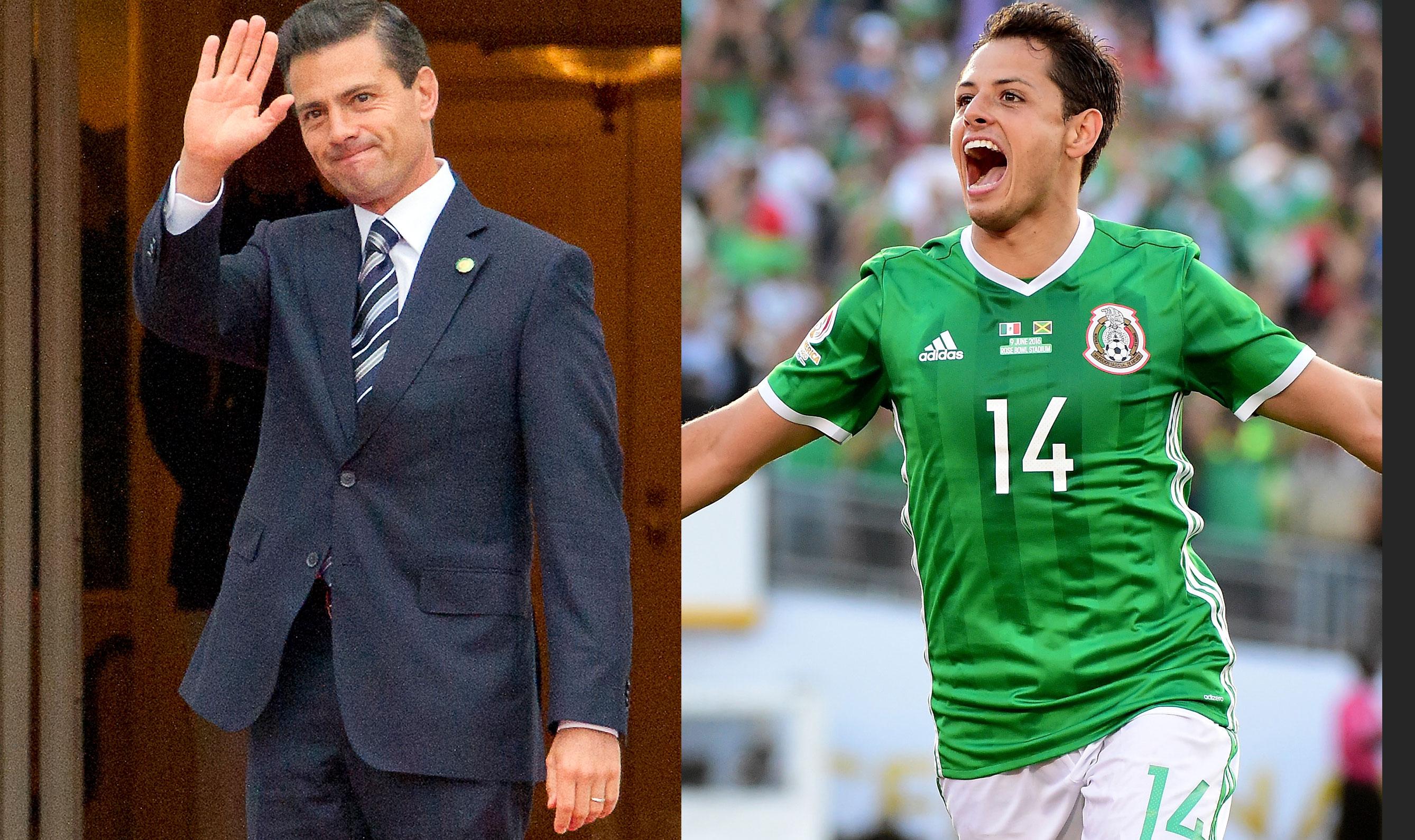 Enrique Peña Nieto y Javier Hernández