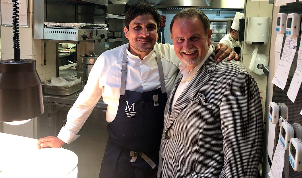 Raul de Molina y chef Mauro Colagrego