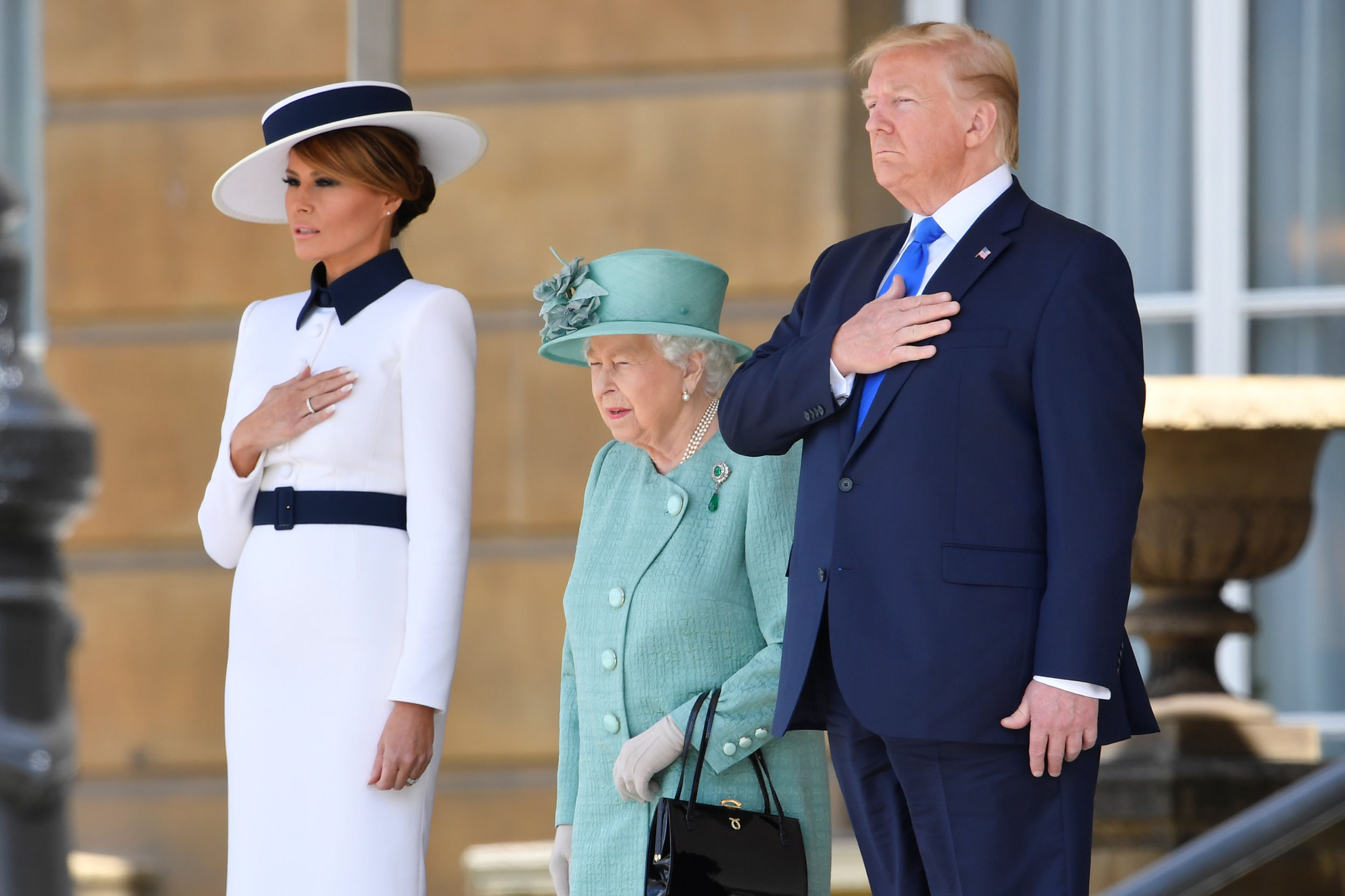 Reina Isabel Donald Trump Melania Trump