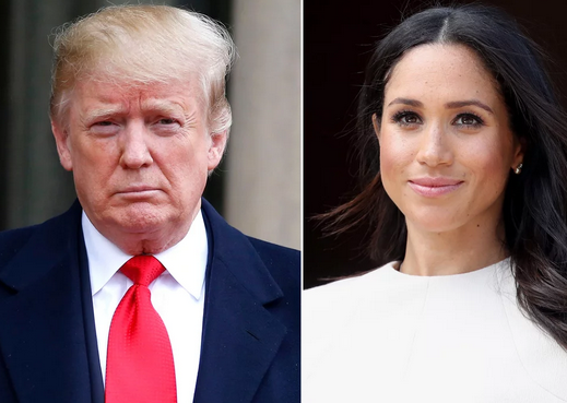 From left: President Donald Trump and Meghan Markle Julie Douxe/REX; Chris Jackson/Getty Image