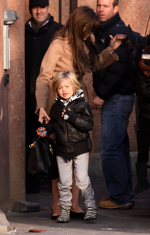 Angelina Jolie, Shiloh And Zahara Sighting in Paris