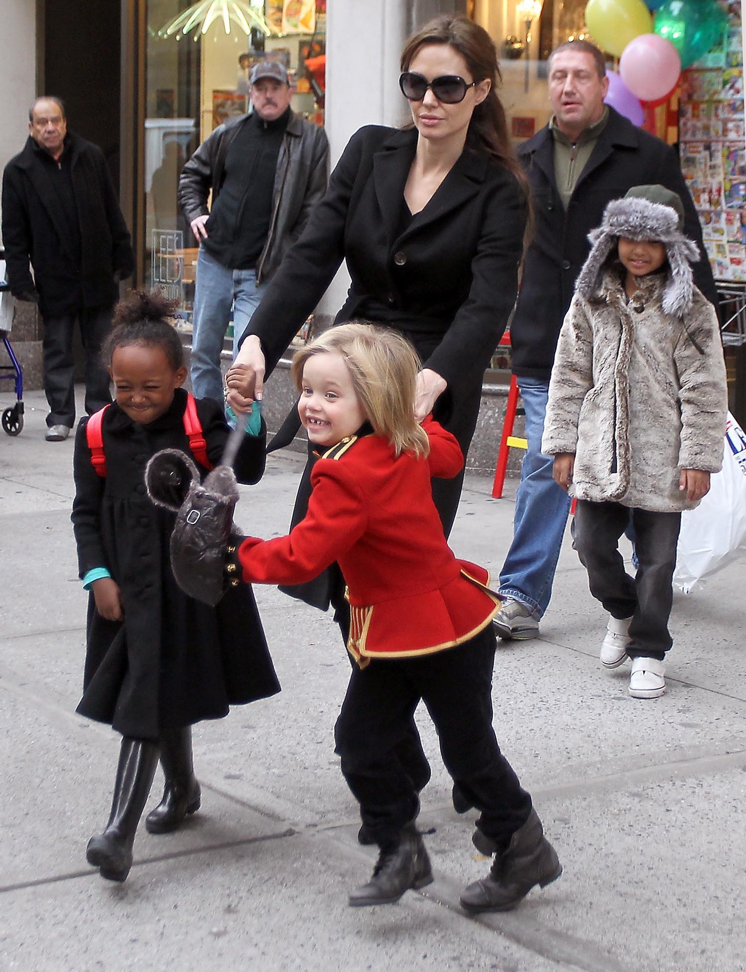 Angelina Jolie with her children shopping in New York