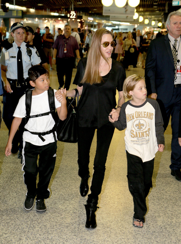 Angelina Jolie Arrives At Brisbane Airport