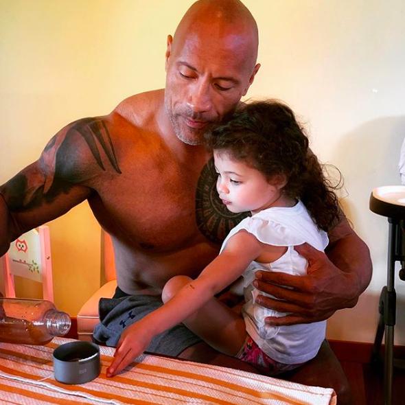 Dwayne Johnson, hija
