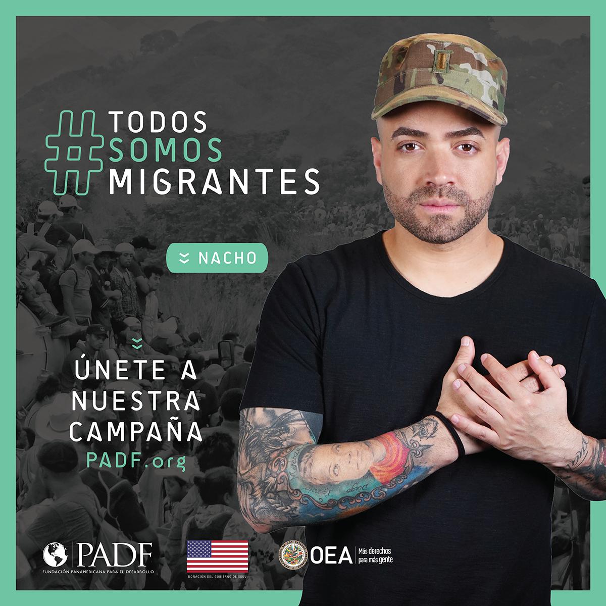 NAcho #TodosSomosMigrantes campaña