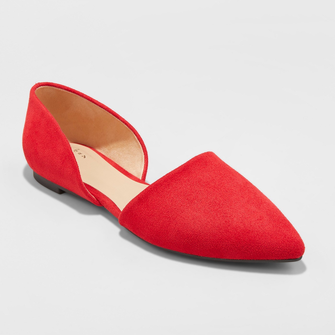 A New Day Rebecca Microsuede Pointed Two Piece Ballet Flats, $19.99