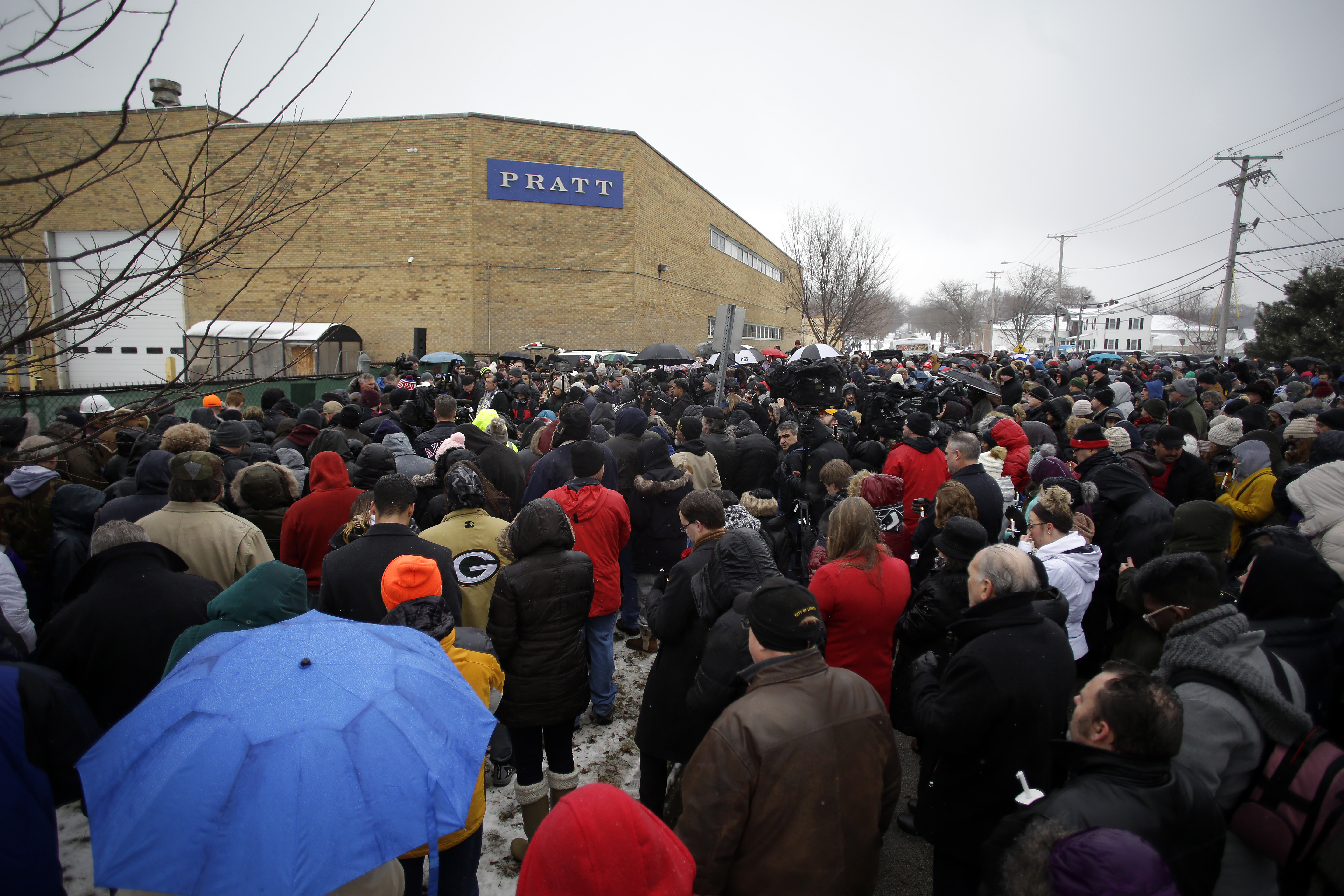 Prayer Vigil Held At Site Of Workplace Shooting In Aurora, IL That Killed  5