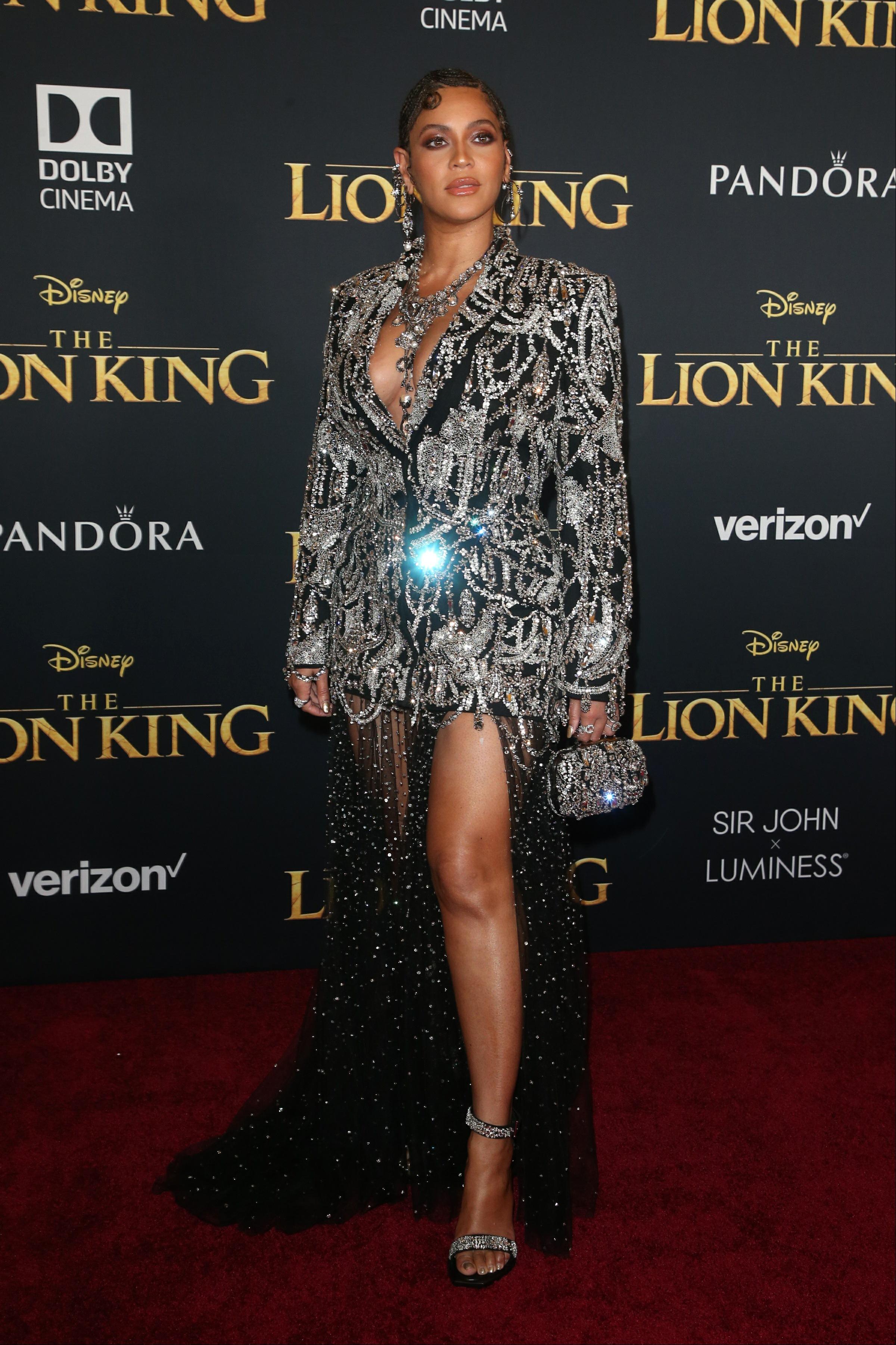 Beyonce, looks, premier, the lion king, los angeles