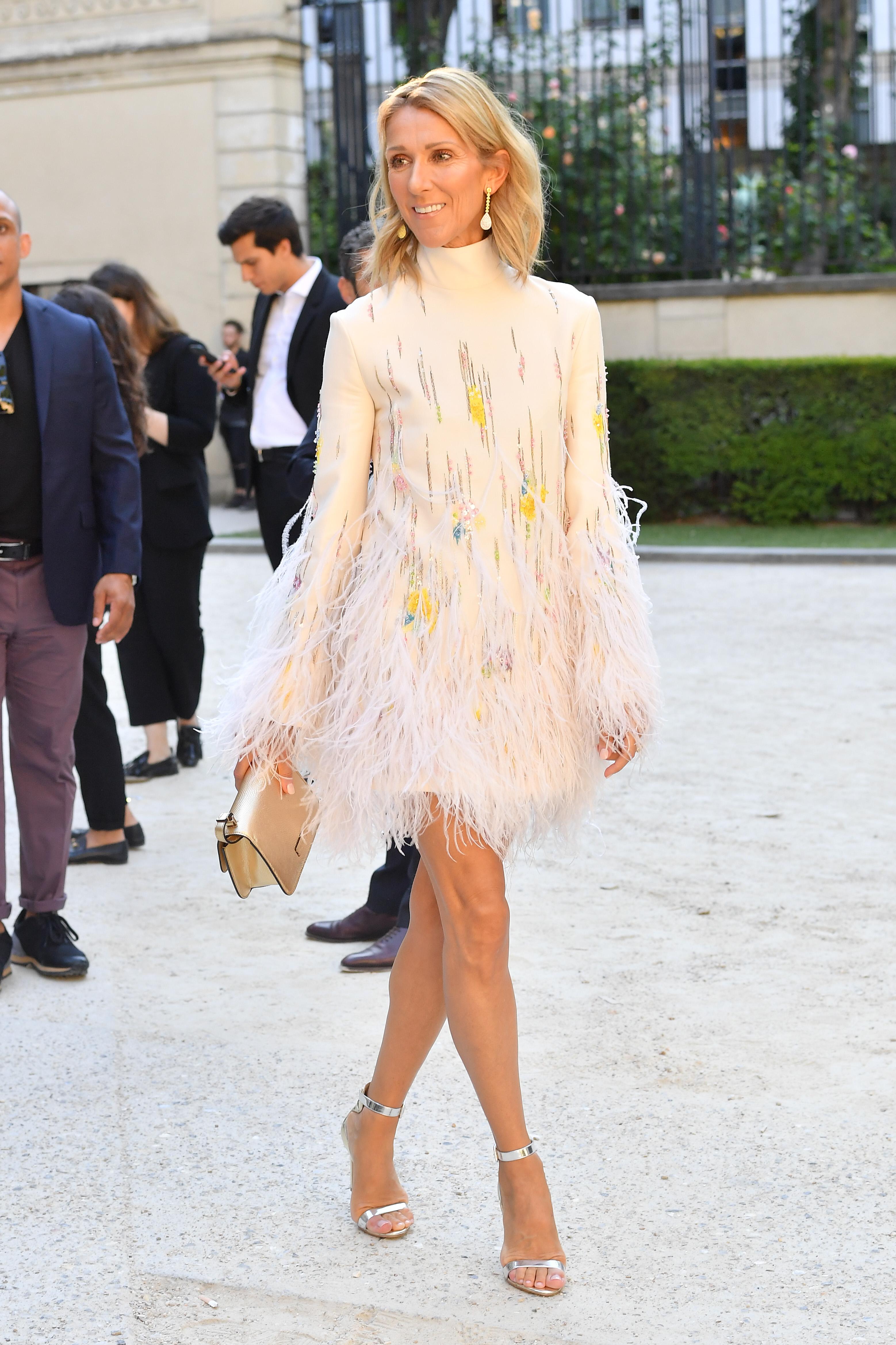 Celine Dion, looks, semana de la moda de paris, paris