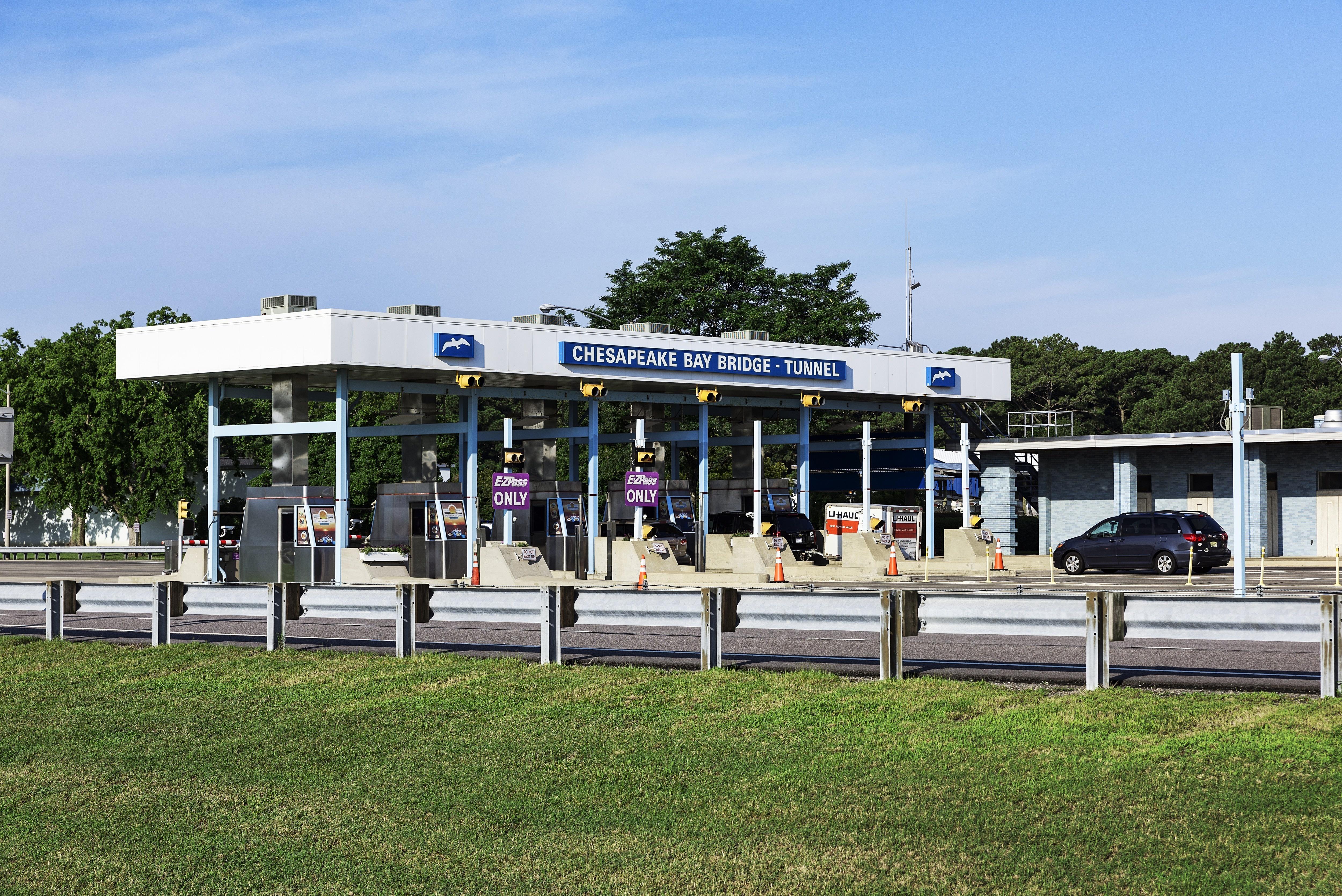 Chesapeake Bay Bridge Tunnel toll booth