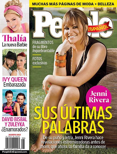 Cover, Portada, Jenni Rivera, Agosto, 2013, People en Español