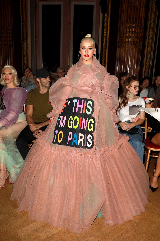 Christina Aguilera desfile Victor & Rolf Haute Couture en Paris