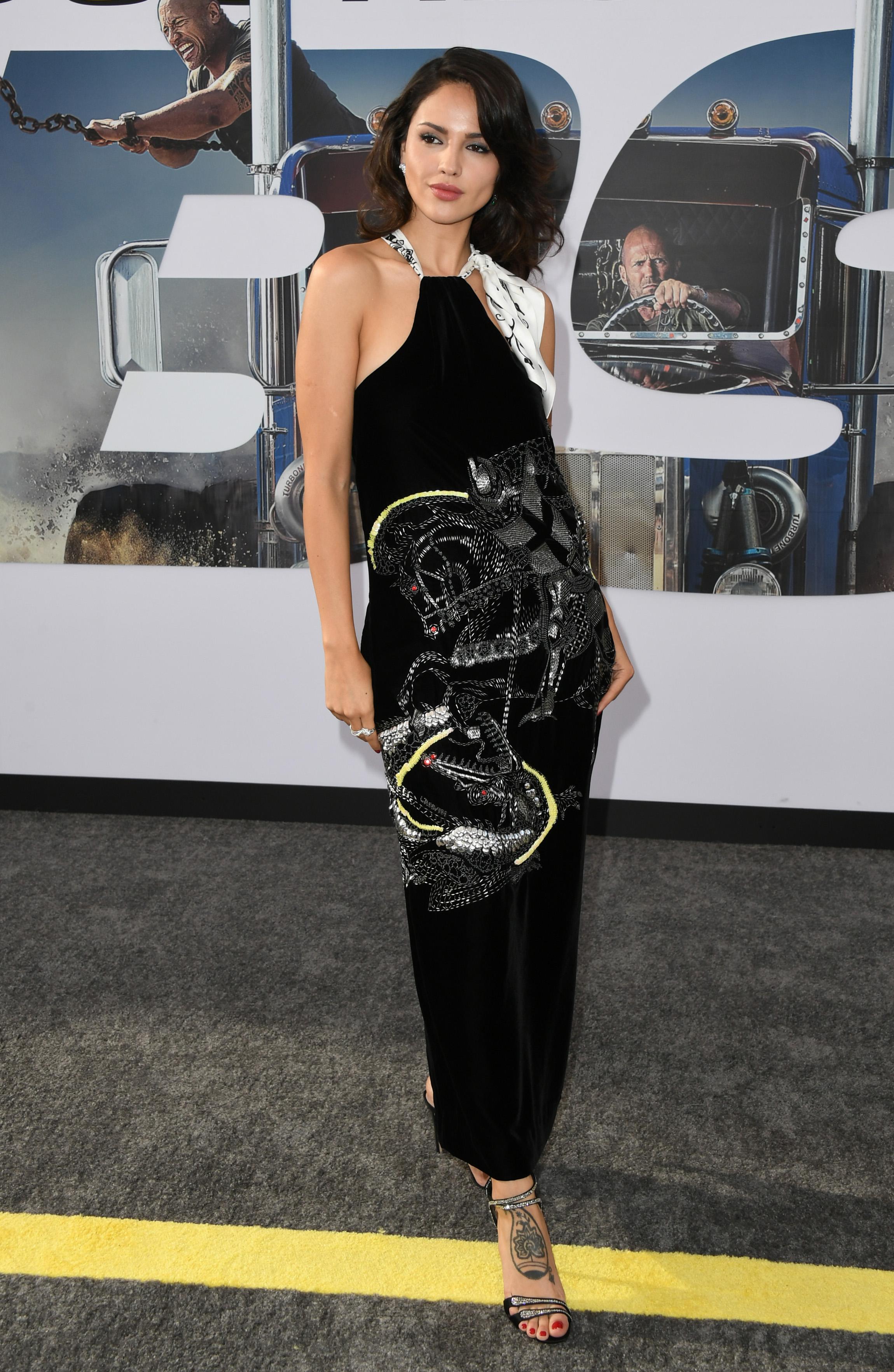 Eiza Gonzalez, look, vestido, premier, pelicula, Hobbs & shaw