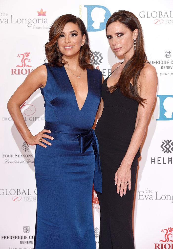 Eva Longoria y Victoria Beckham