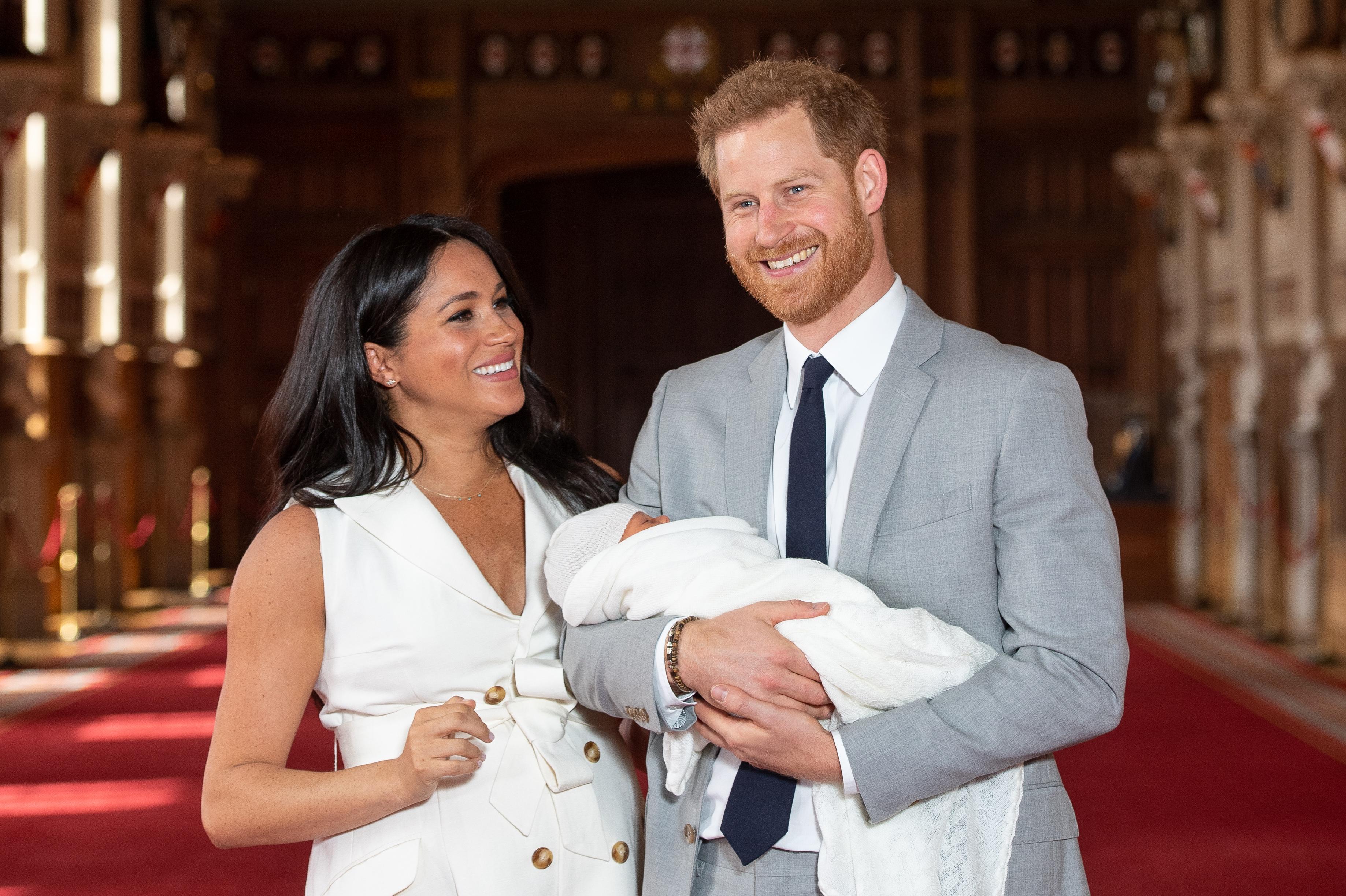 Prince Harry, Meghan Markle, Archie Harrison Mountbatten-Windsor