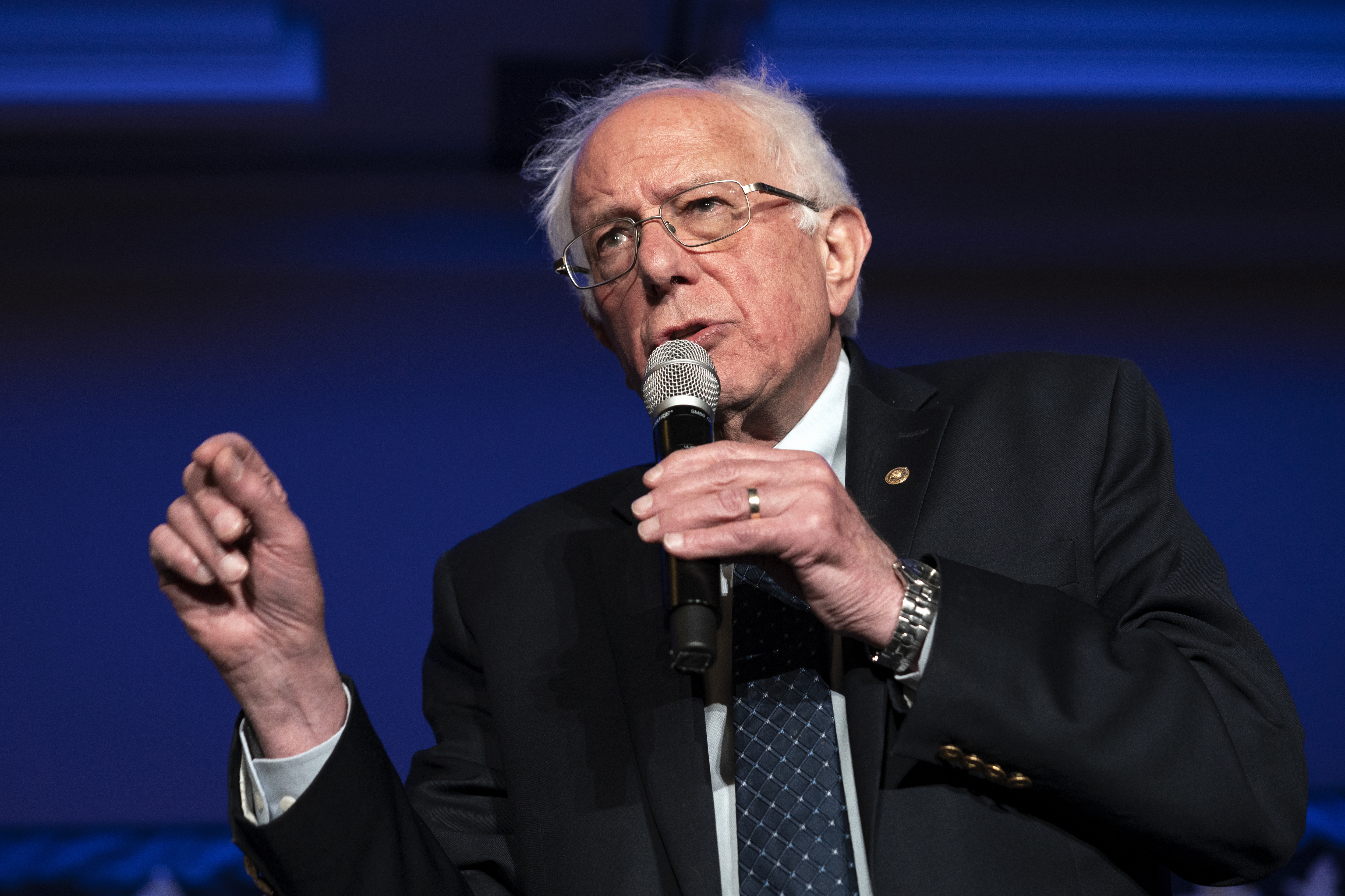 U.S. Senator and presidential candidate, Bernie Sanders,