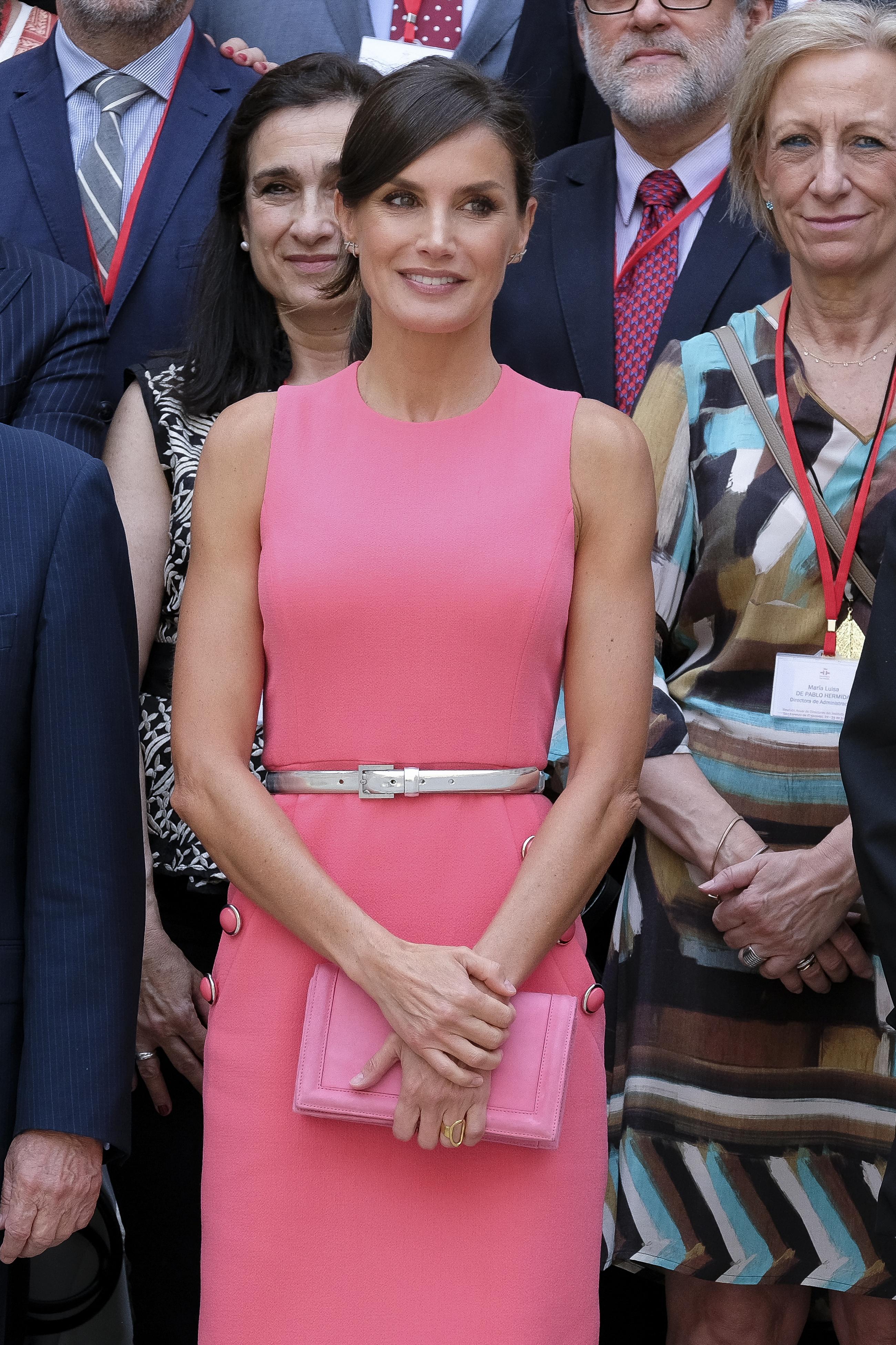 Queen Letizia of Spain Meets Cervantes Institute Directors