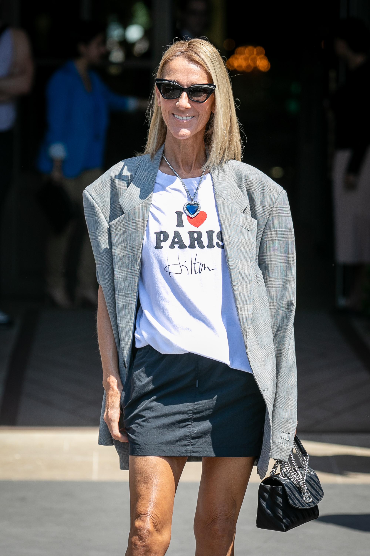 Celine Dion, looks, semana de la moda paris, paris fashion week