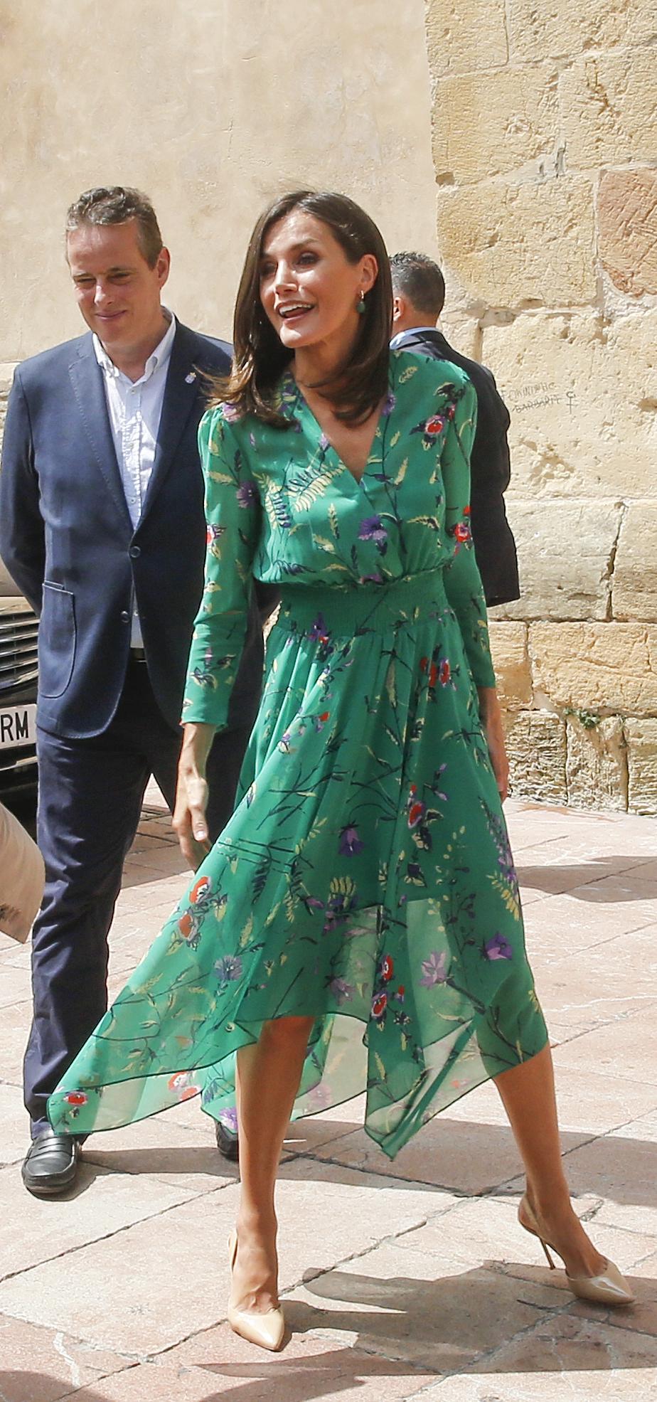 Reina Letizia, looks, vestido verde, maje