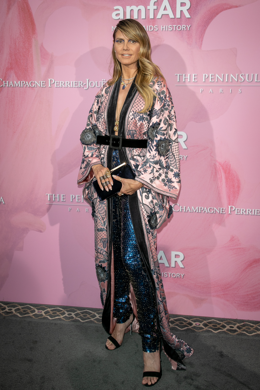 Heidi Klum, look, amfar, gala, paris