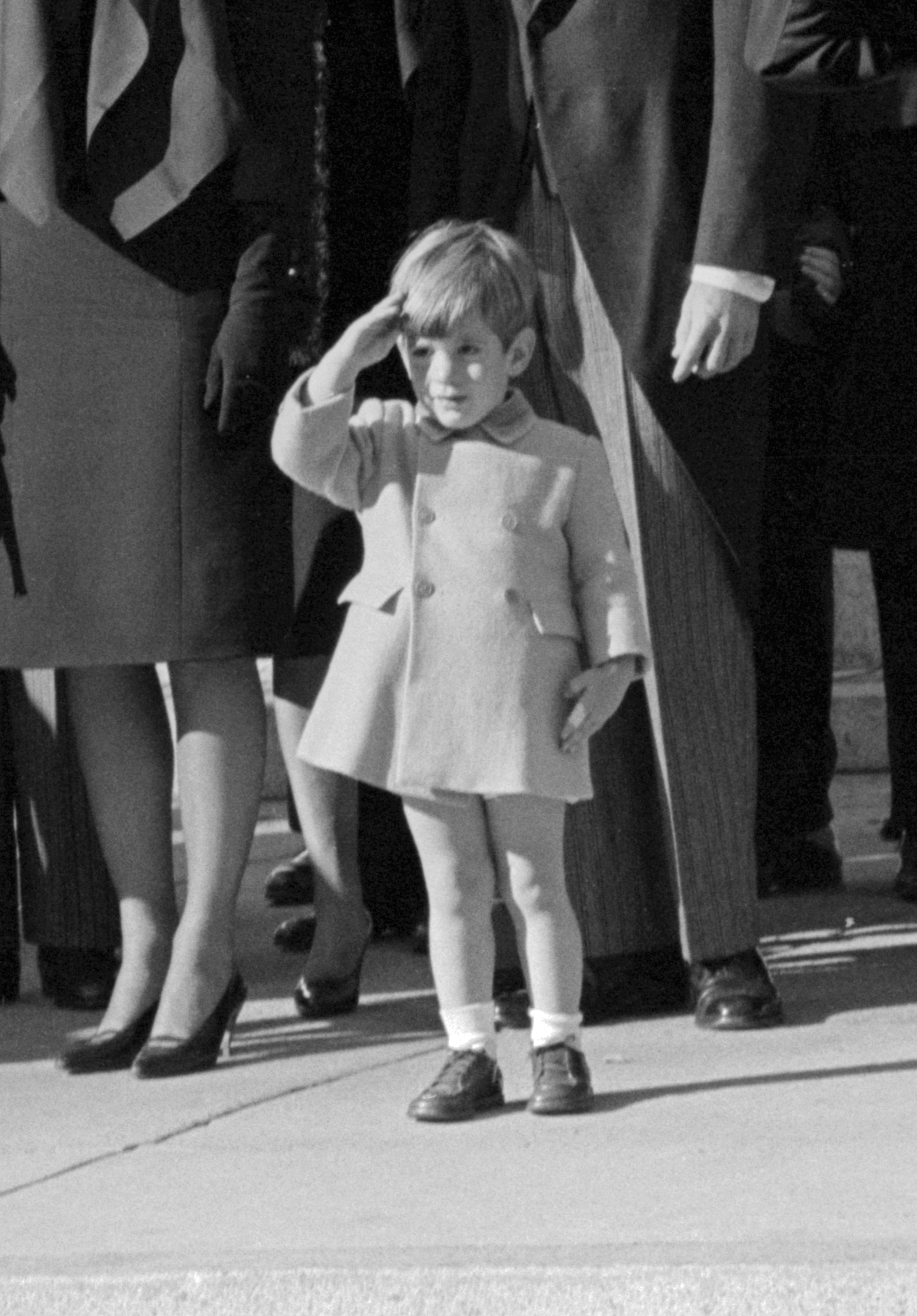 John F. Kennedy Jr. Saluting His Father's Casket