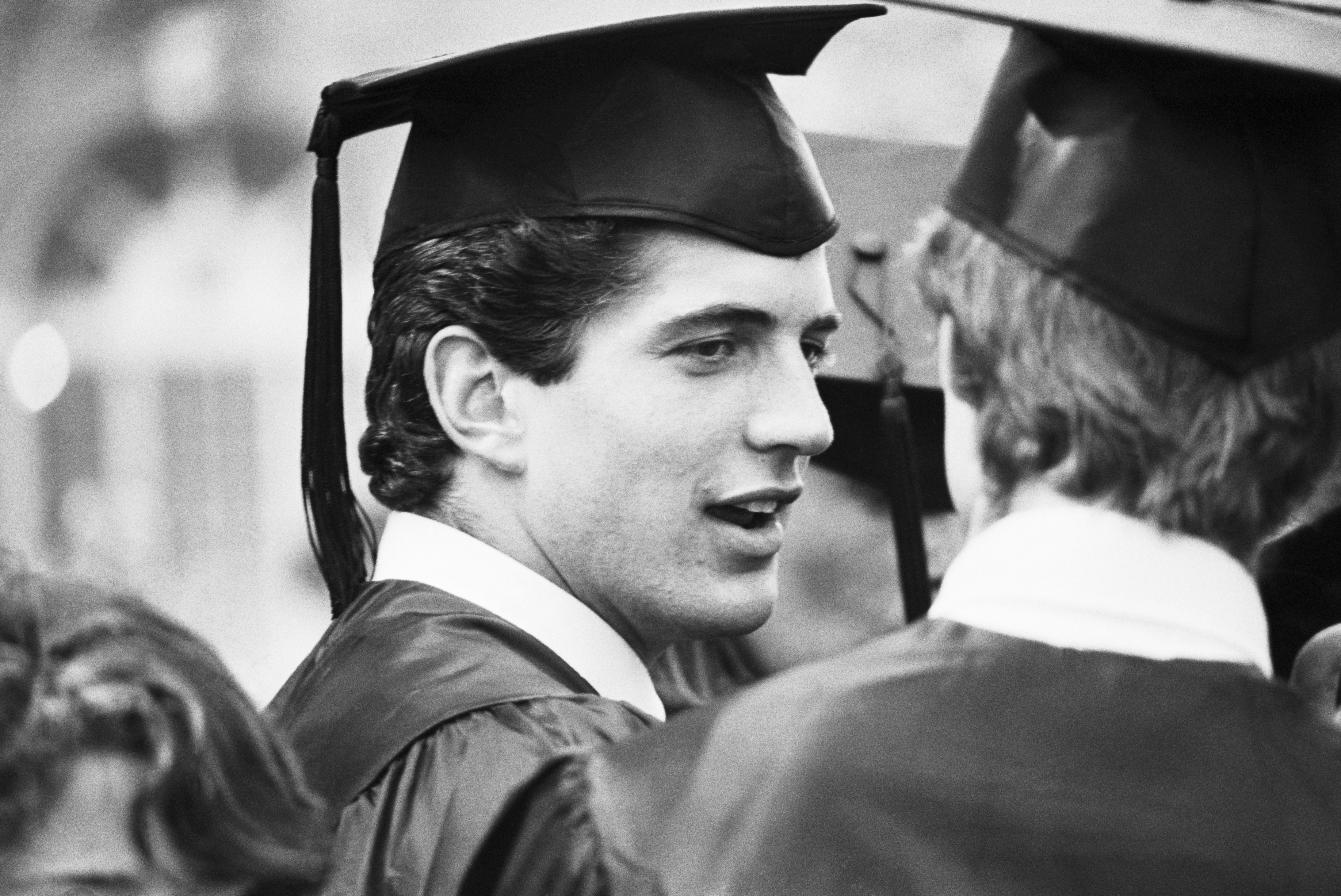 John F. Kennedy Jr. at Graduation