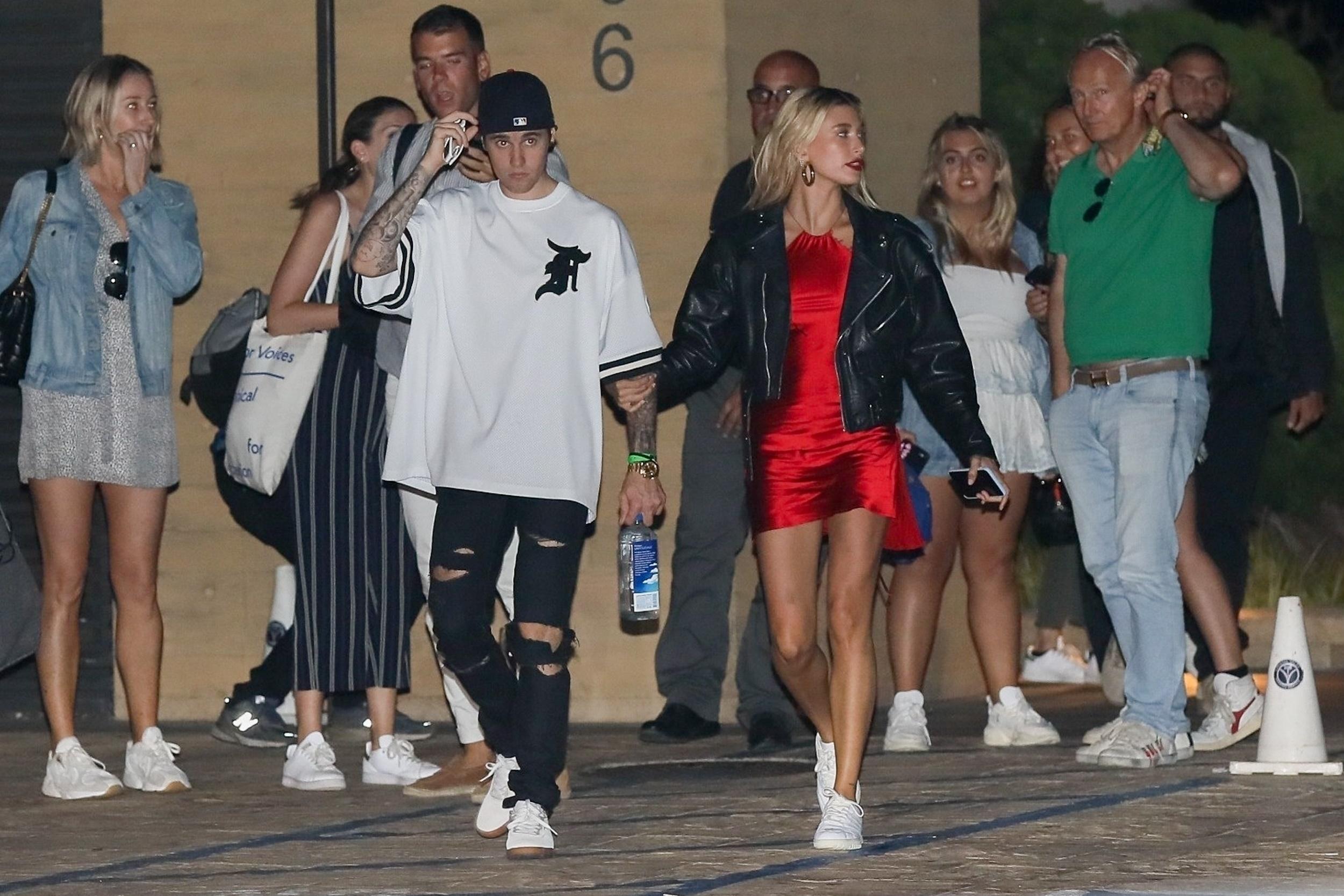 Justin Bieber y Hailey Baldwin nobu malibu
