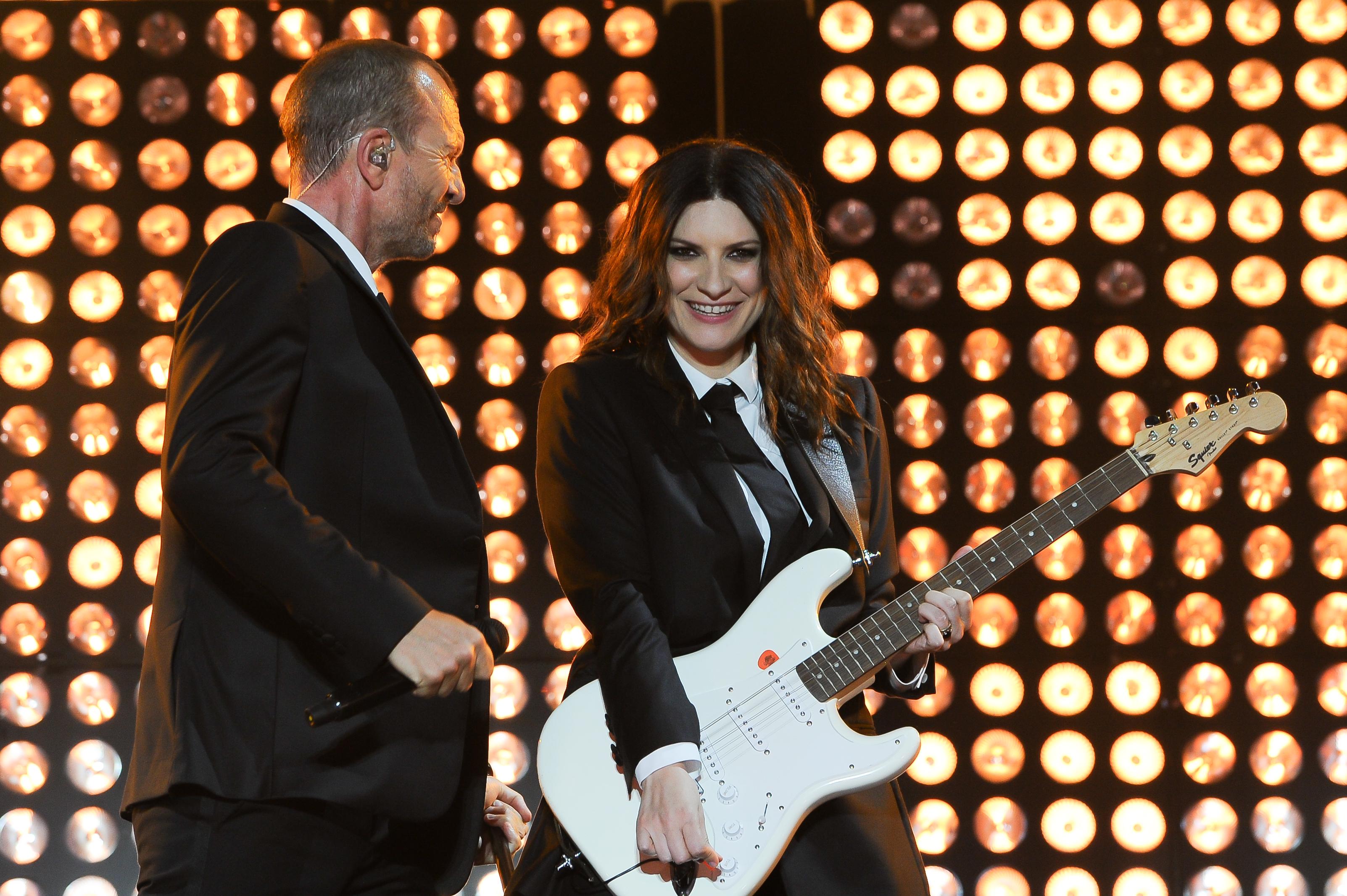 Laura Pausini y Biagio Antonacci concierto en Roma