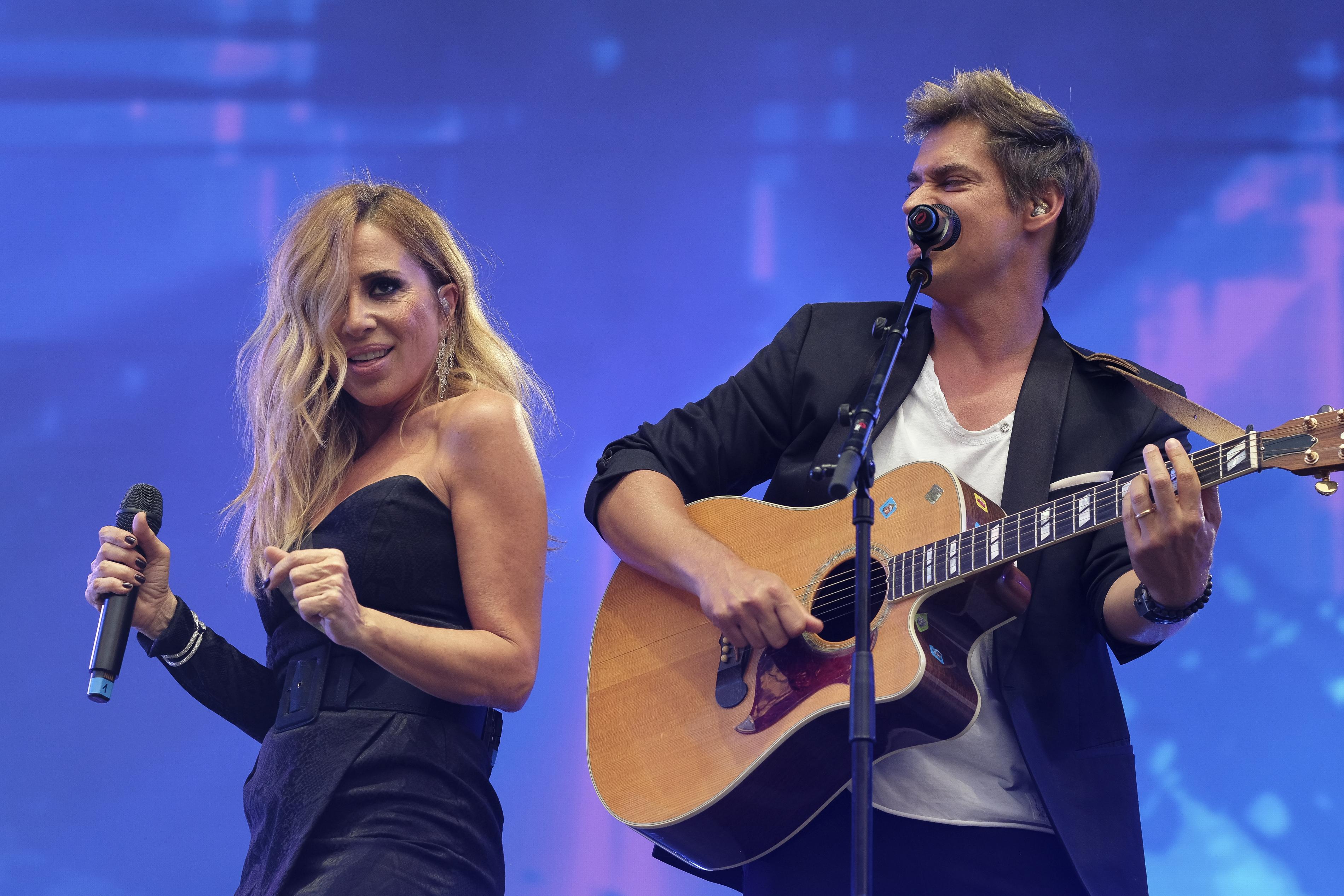 Marta Sánchez y Carlos Baute concierto x la paz
