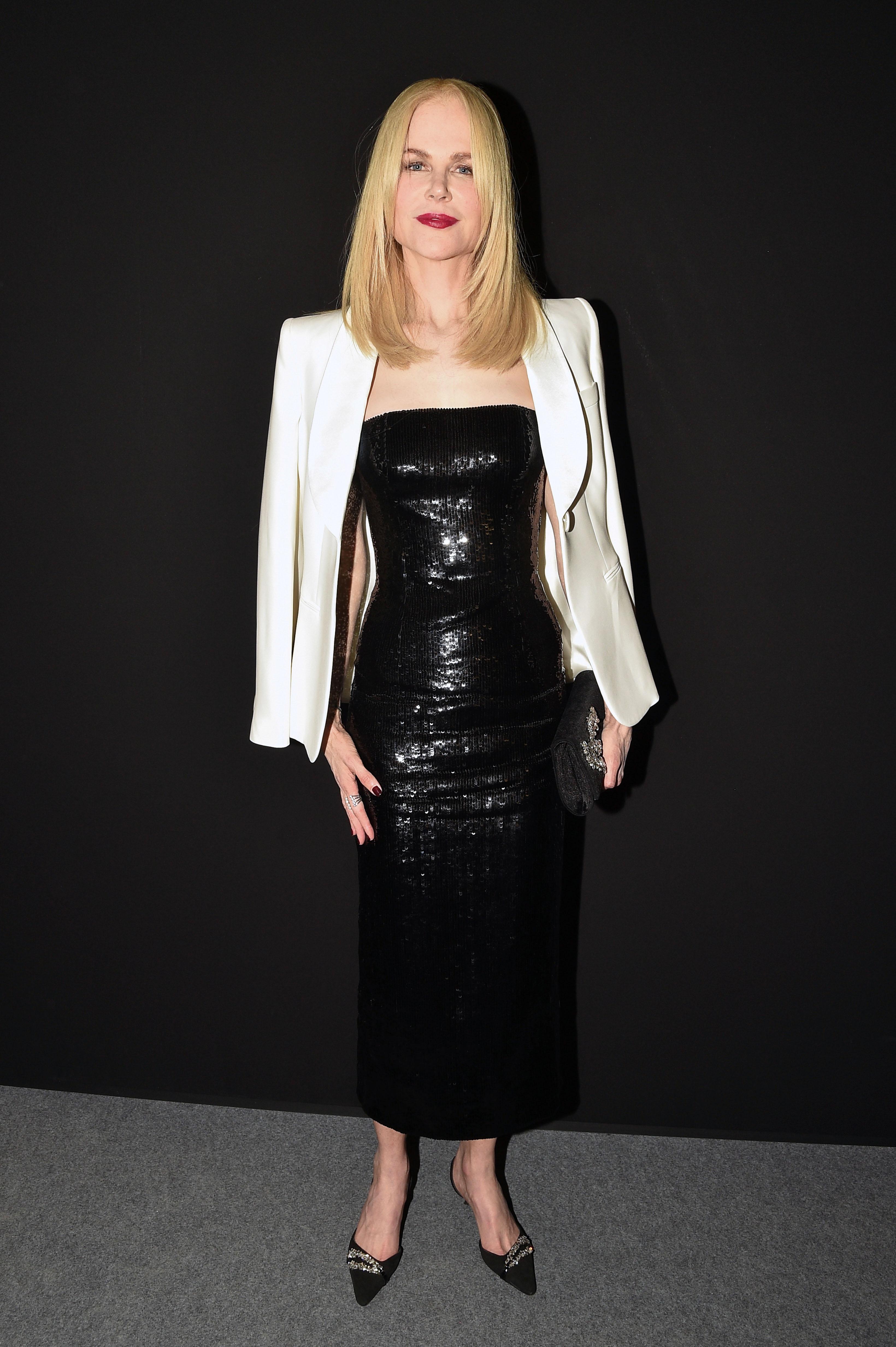 Nicole Kidman, look, giorgio armani, fashion show, semana de la moda de paris