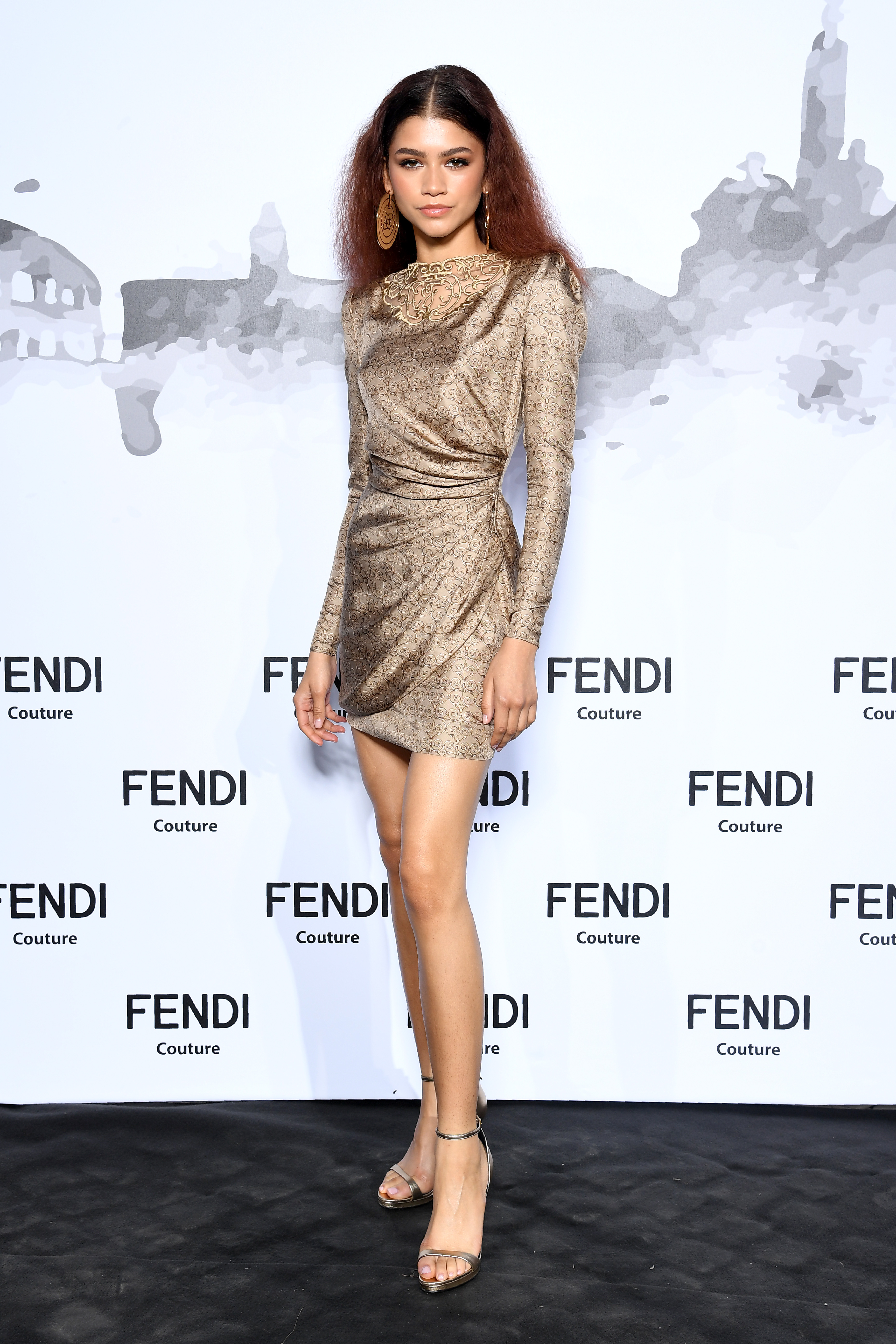 Zendaya, looks, roma, fendi