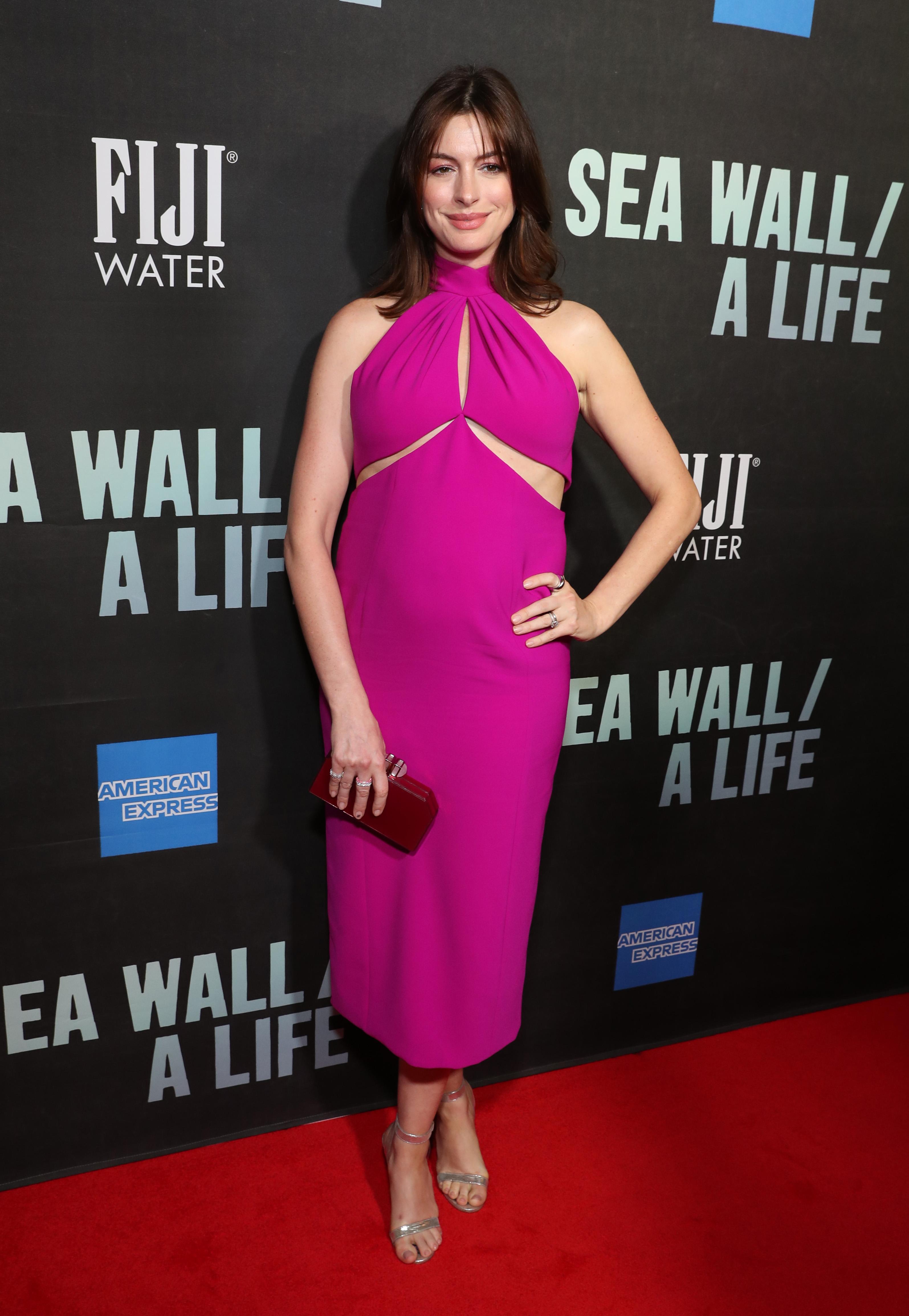 Anne Hathaway, looks, embarazo