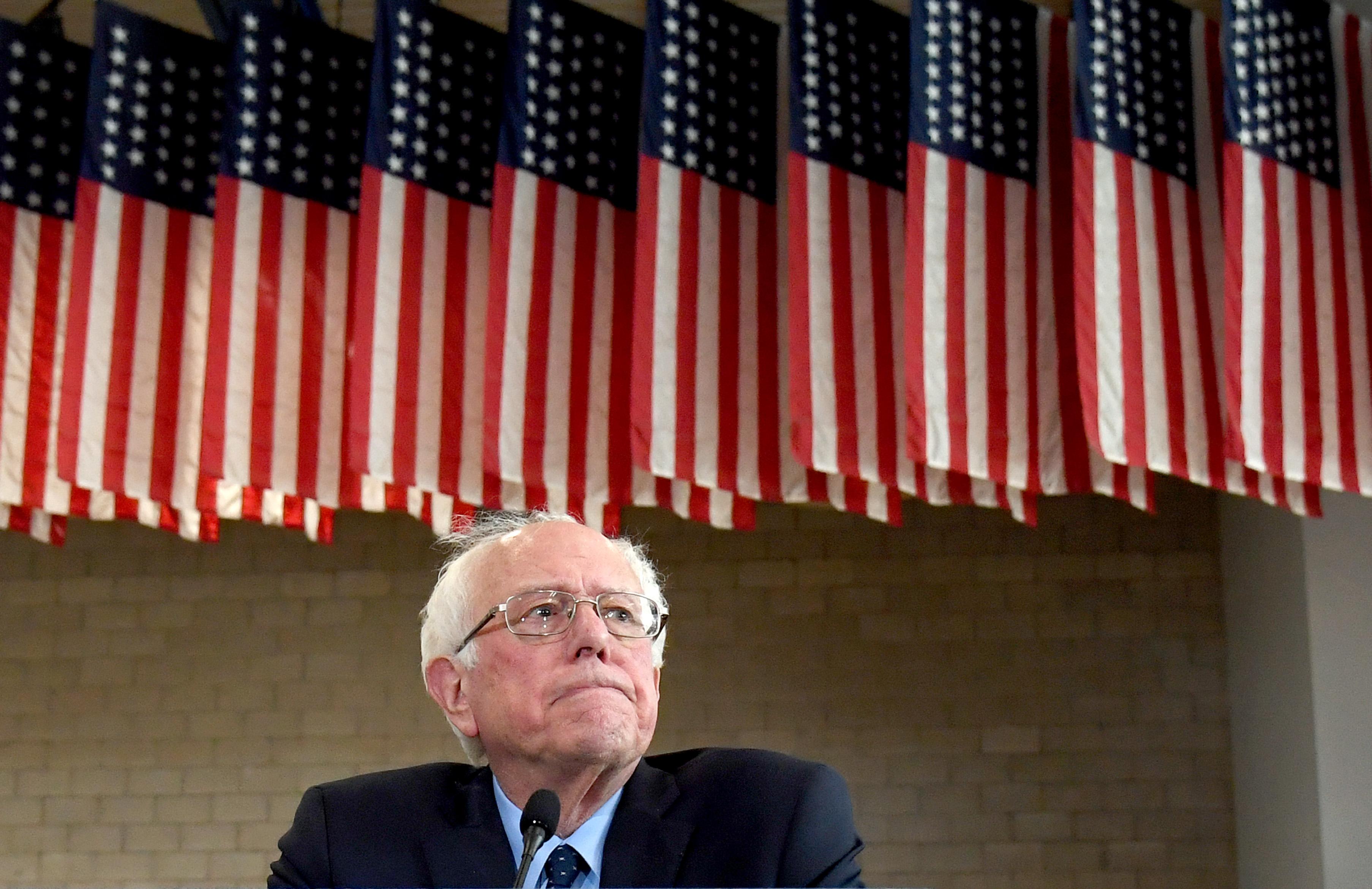 Bernie Sanders Holds Town Hall At North Las Vegas High School