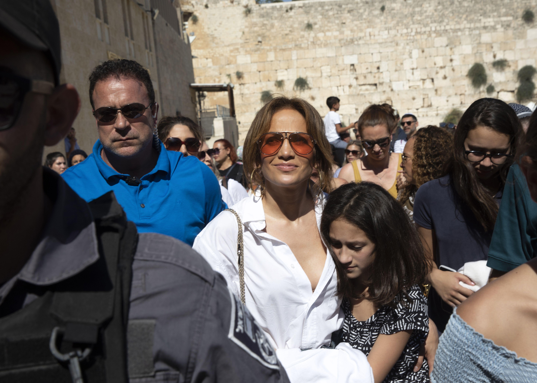 Jennifer Lopez hija Emme Israel Jerusalem Muro de los Lamentos