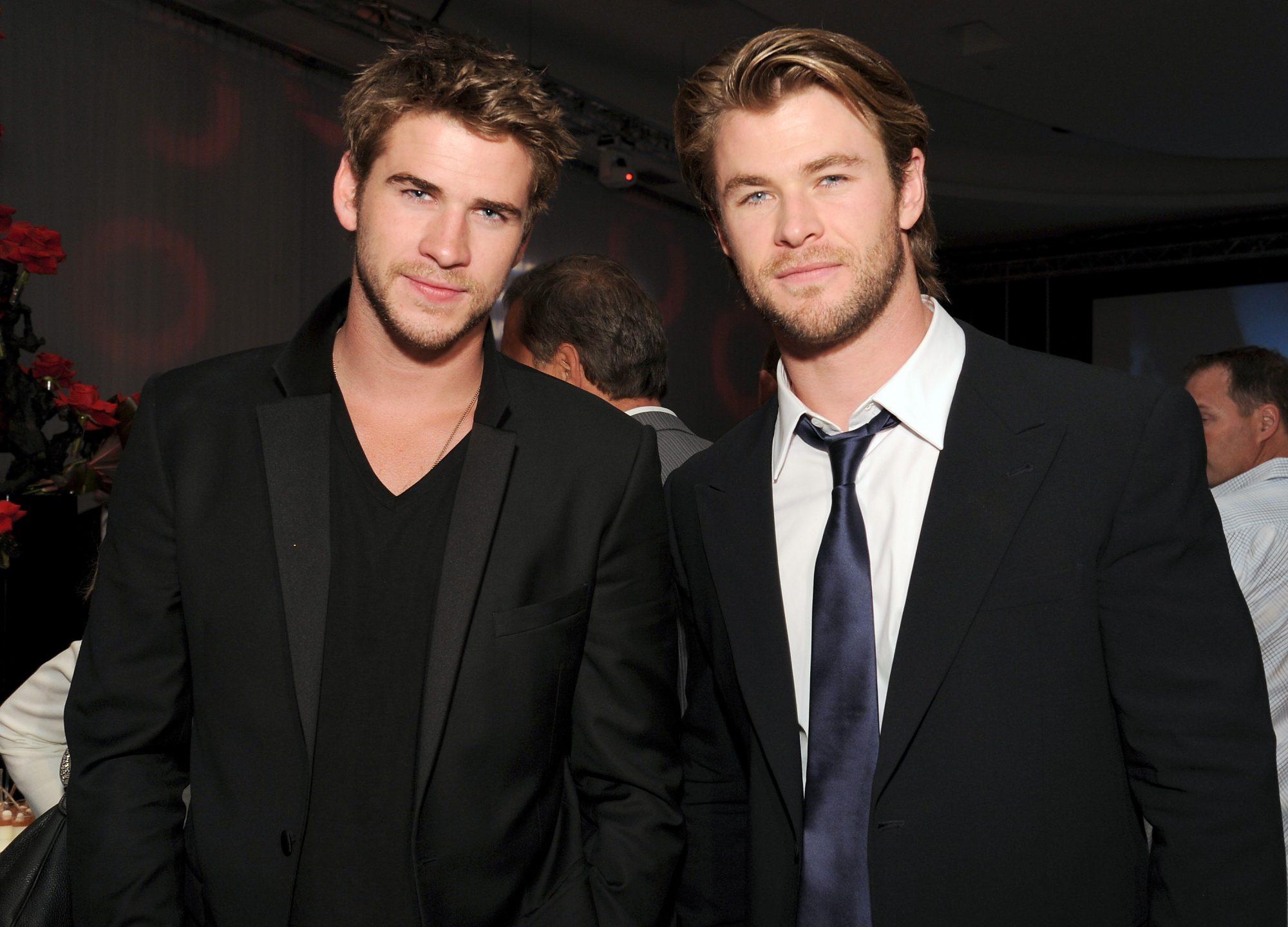 Liam Hemsworth y su hermano Chris Hemsworth