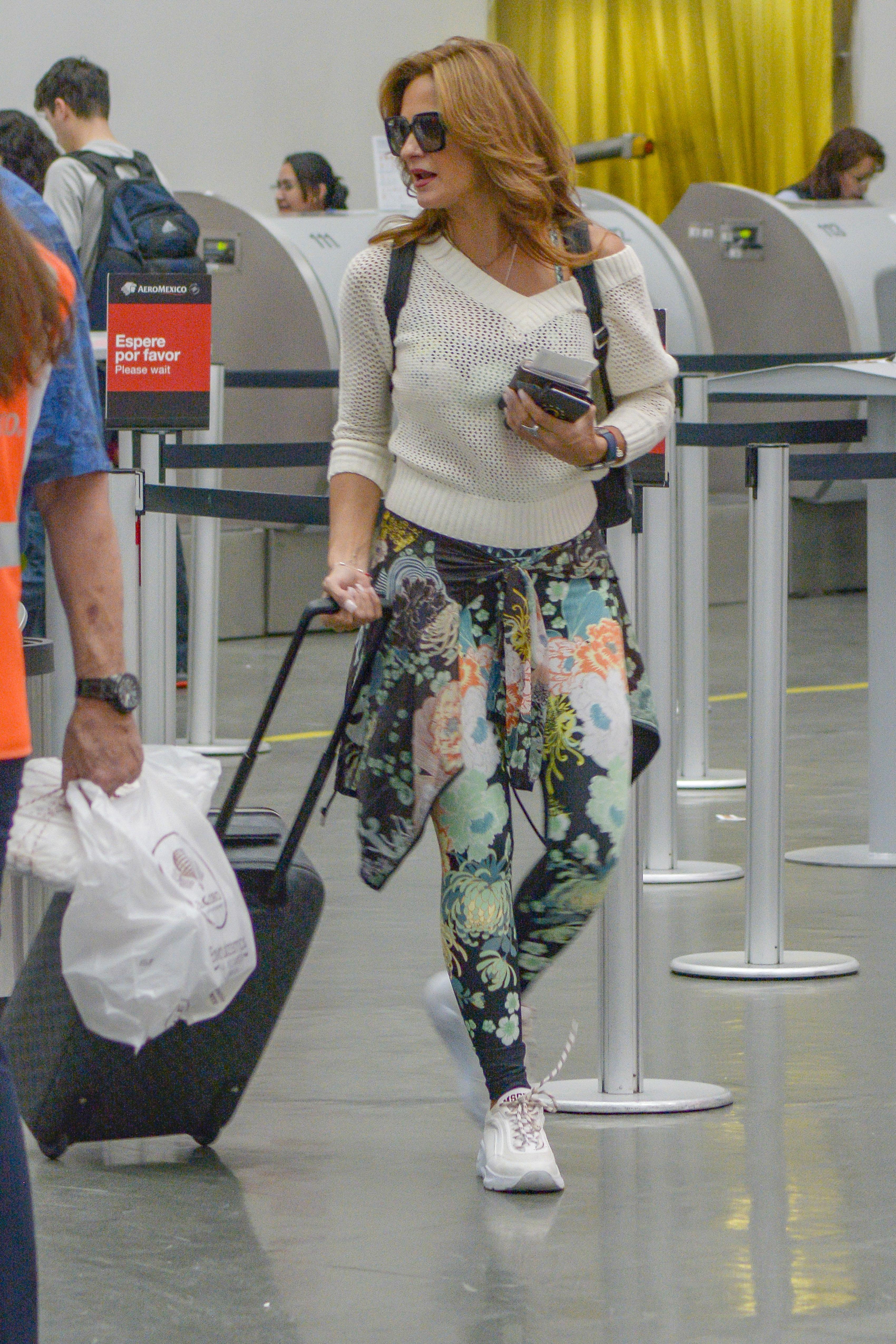 Mariana Seoane, look, aeropuerto, viaje