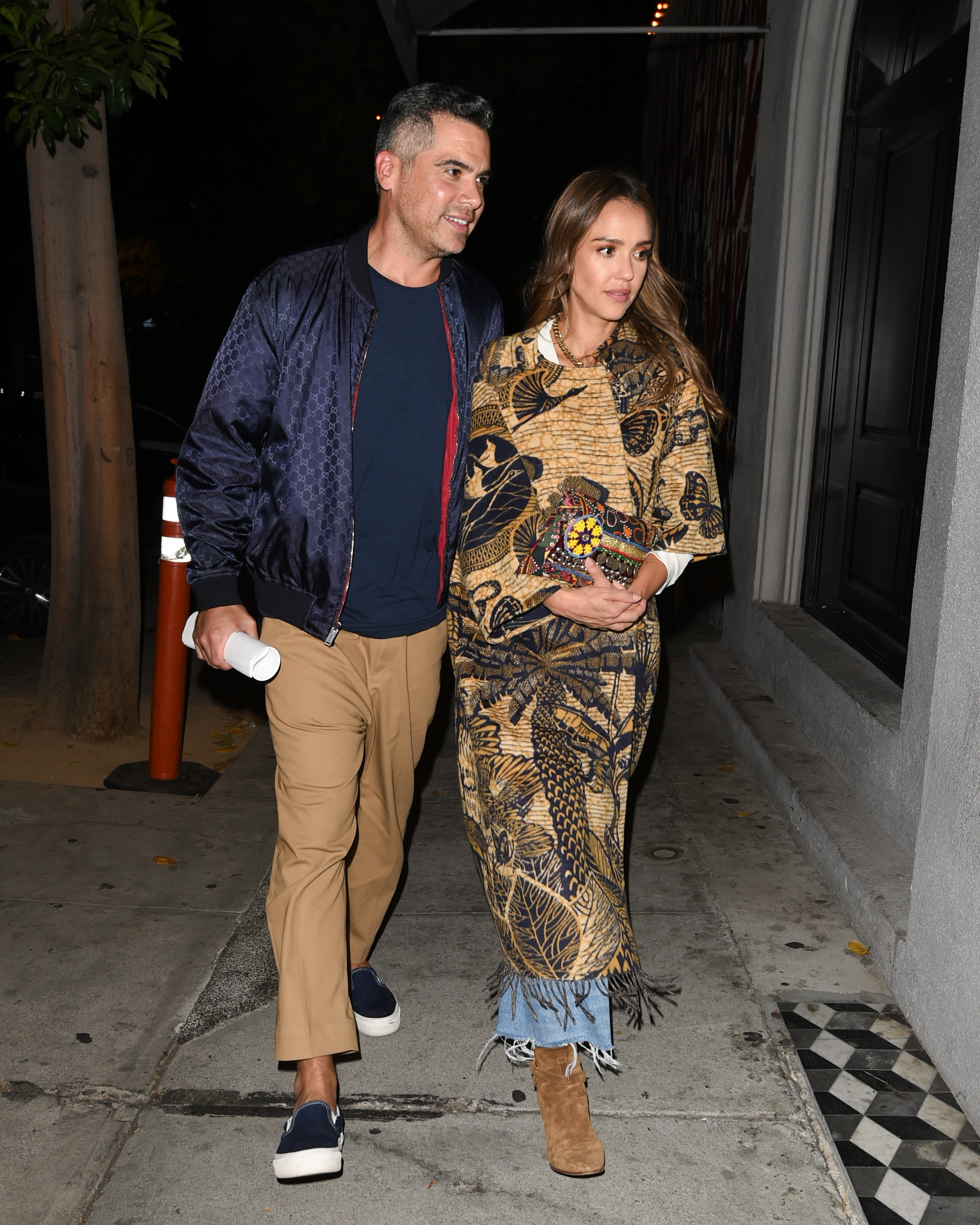 Jessica Alba, Cash Warren Dinner Date