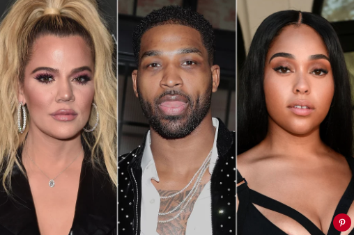 Khloé Kardashian, Tristan Thompson and Jordyn Woods. Photo: Alberto E. Rodriguez/Getty; Cassidy Sparrow/Getty; Emma McIntyre/Getty